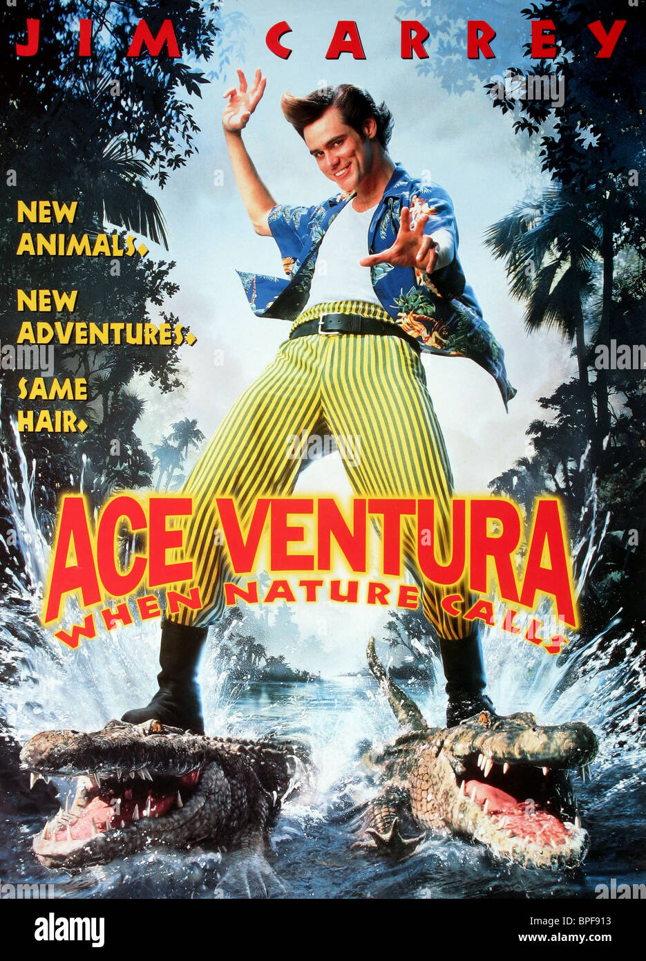 Jim Carrey Film Poster Ace Ventura: When Nature Calls ...
