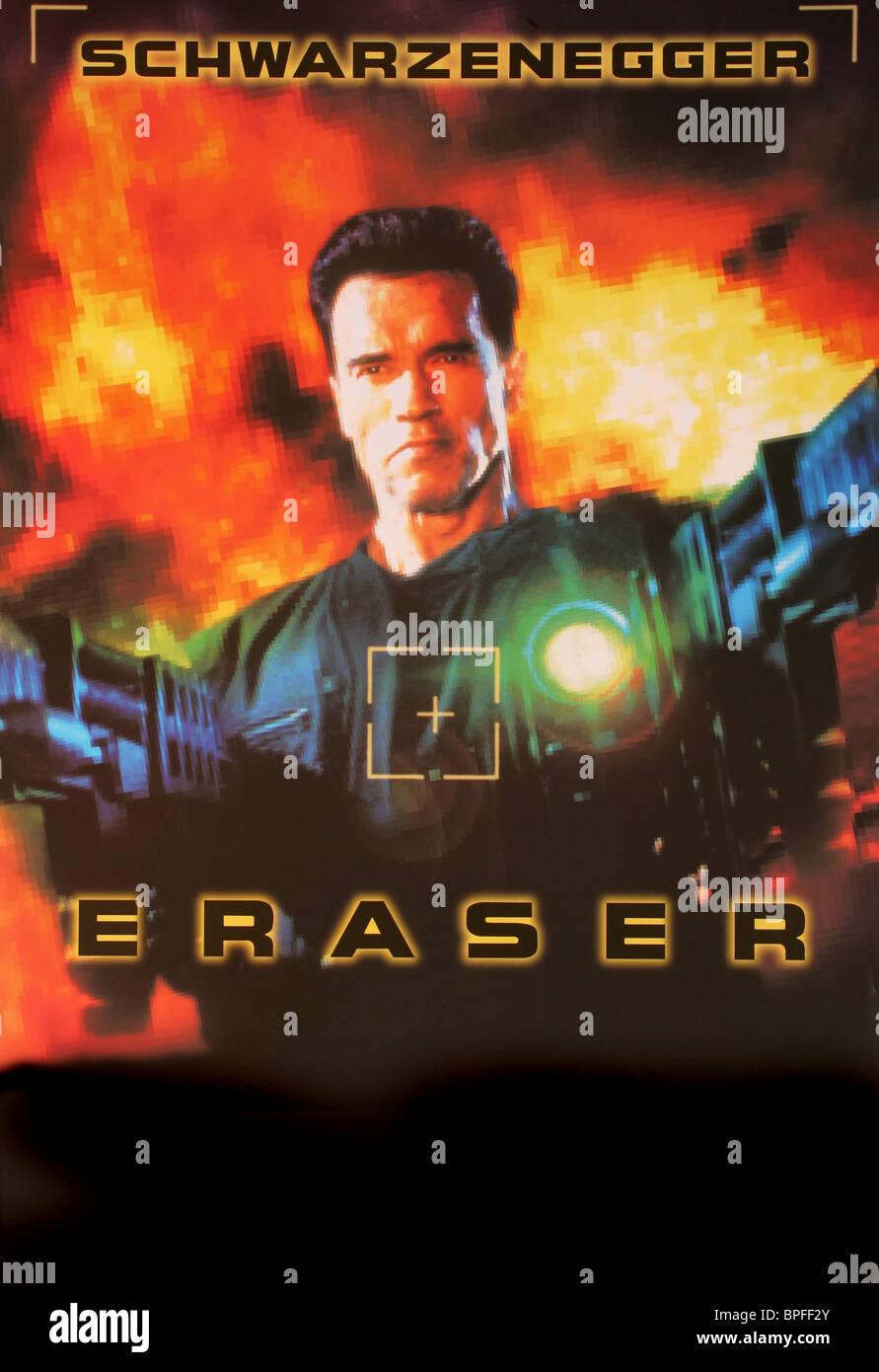 arnold schwarzenegger poster eraser 1996 stock photo