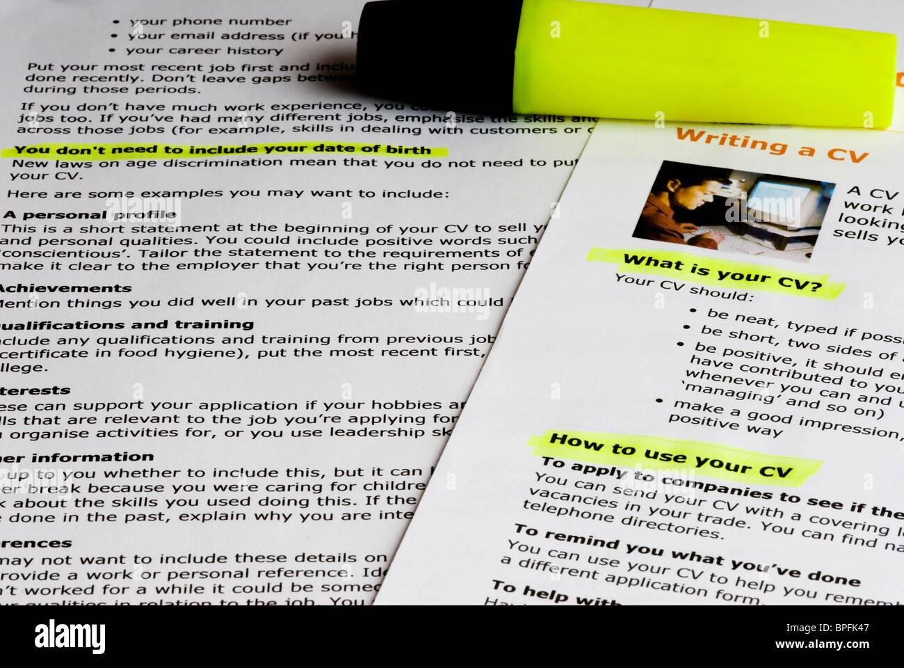 how to create curriculum vitae