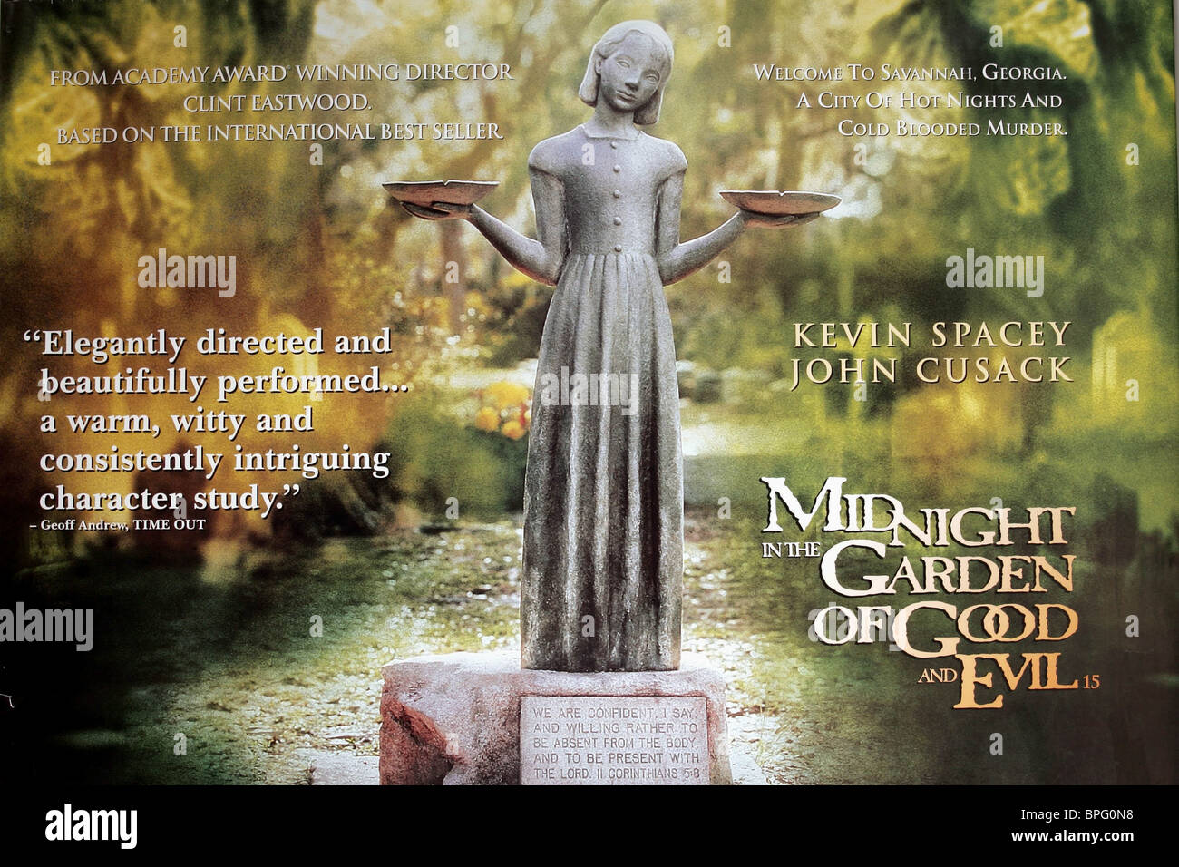 Film Poster Midnight In The Garden Of Good And Evil 1997 Stock Photo Royalty Free Image