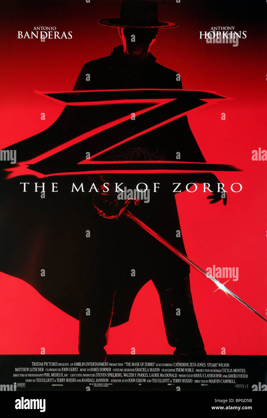 film poster the mask of zorro 1998 stock photo royalty