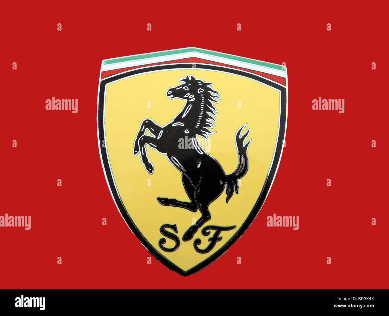 Ferrari car badge stock photo 31099059 alamy ferrari car badge buycottarizona Choice Image