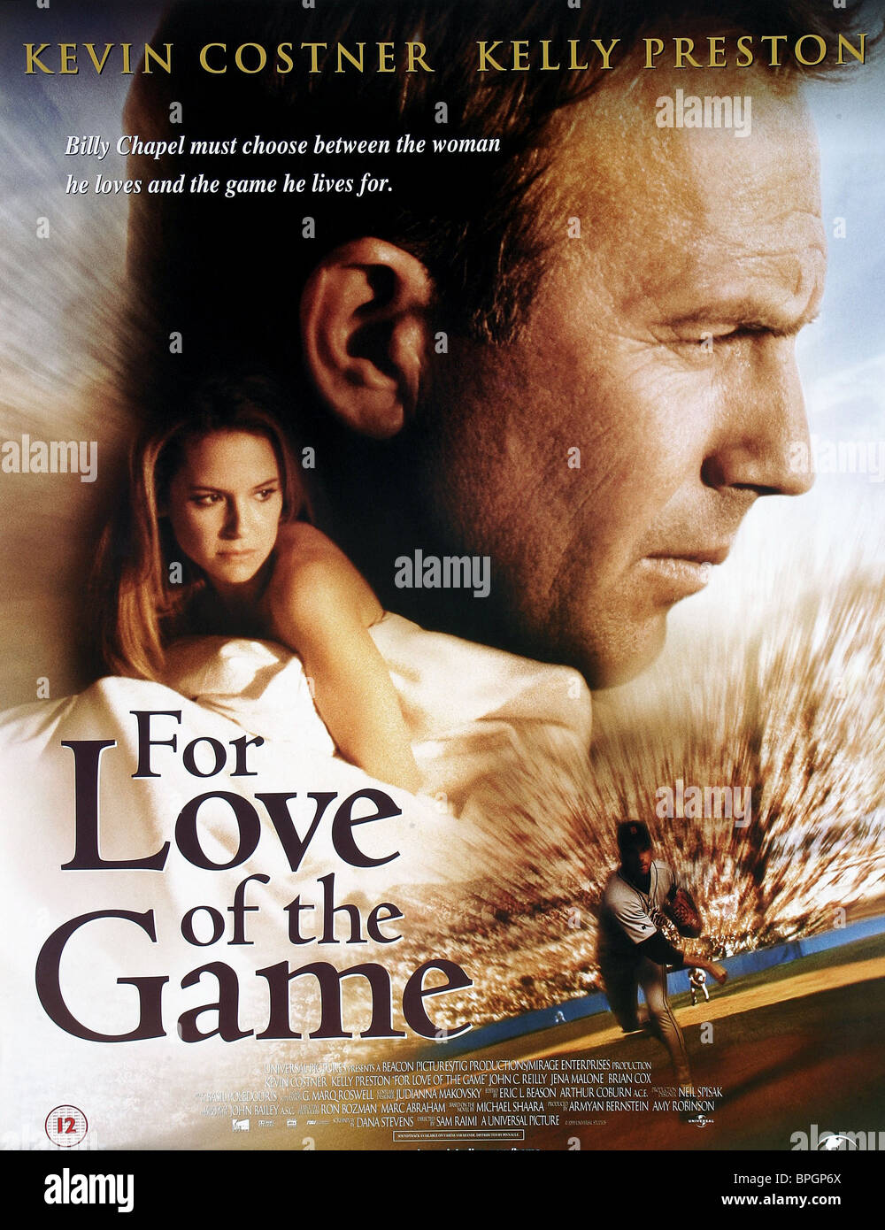kelly preston amp kevin costner poster for love of the game