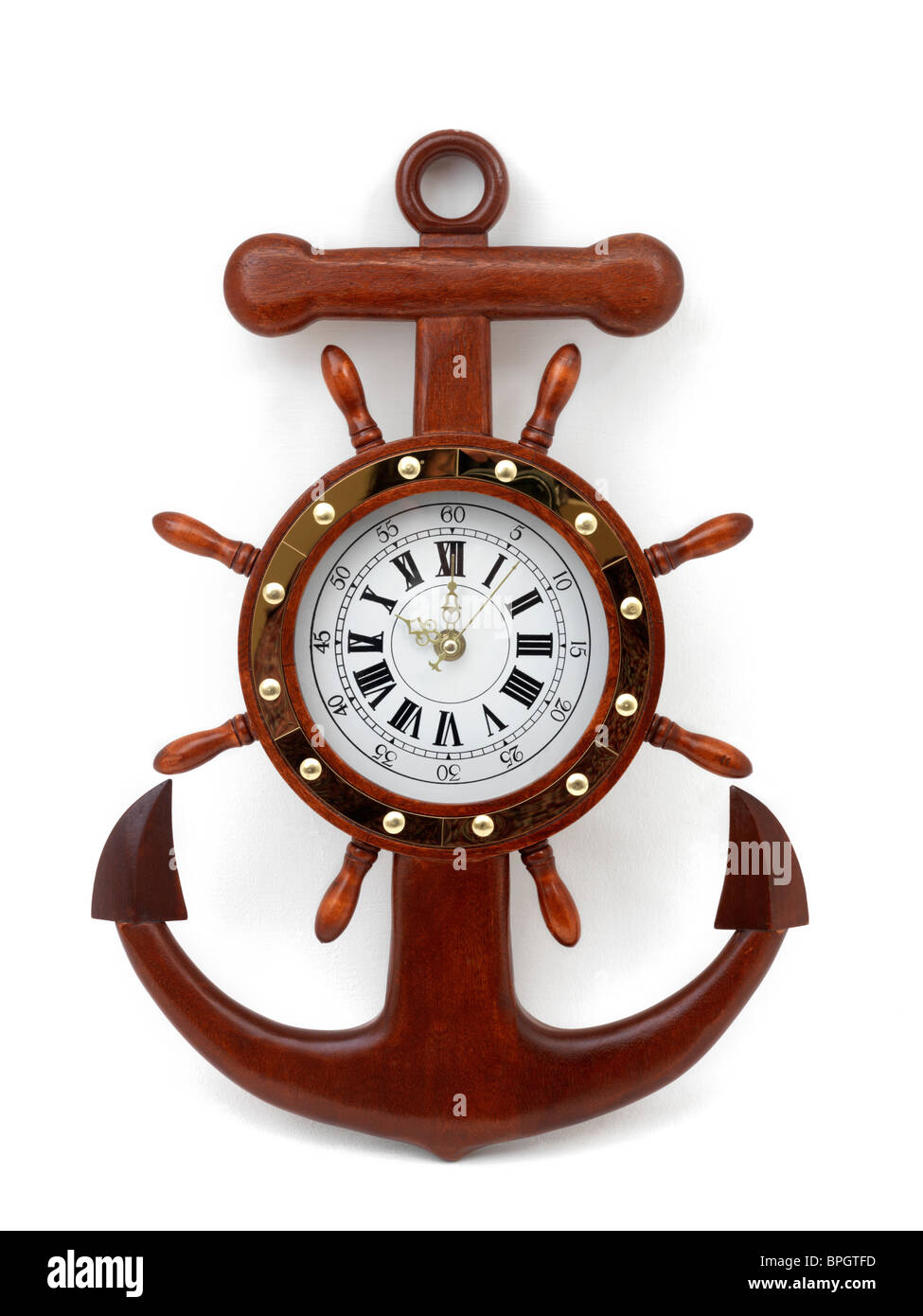 Anchor Shape Wall Clock Stock Photo Royalty Free Image