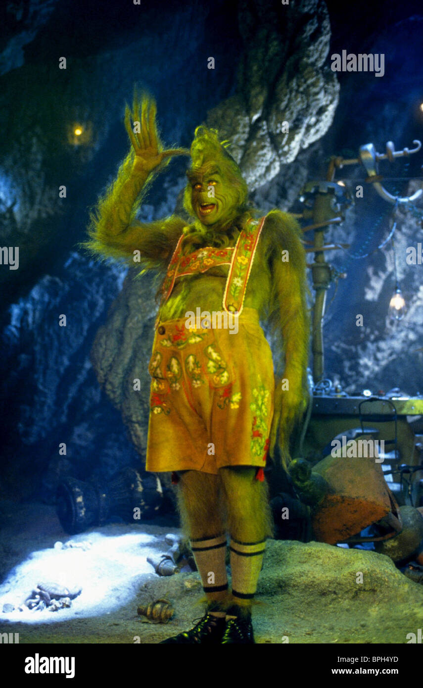 JIM CARREY HOW THE GRINCH STOLE CHRISTMAS (2000 Stock Photo ...