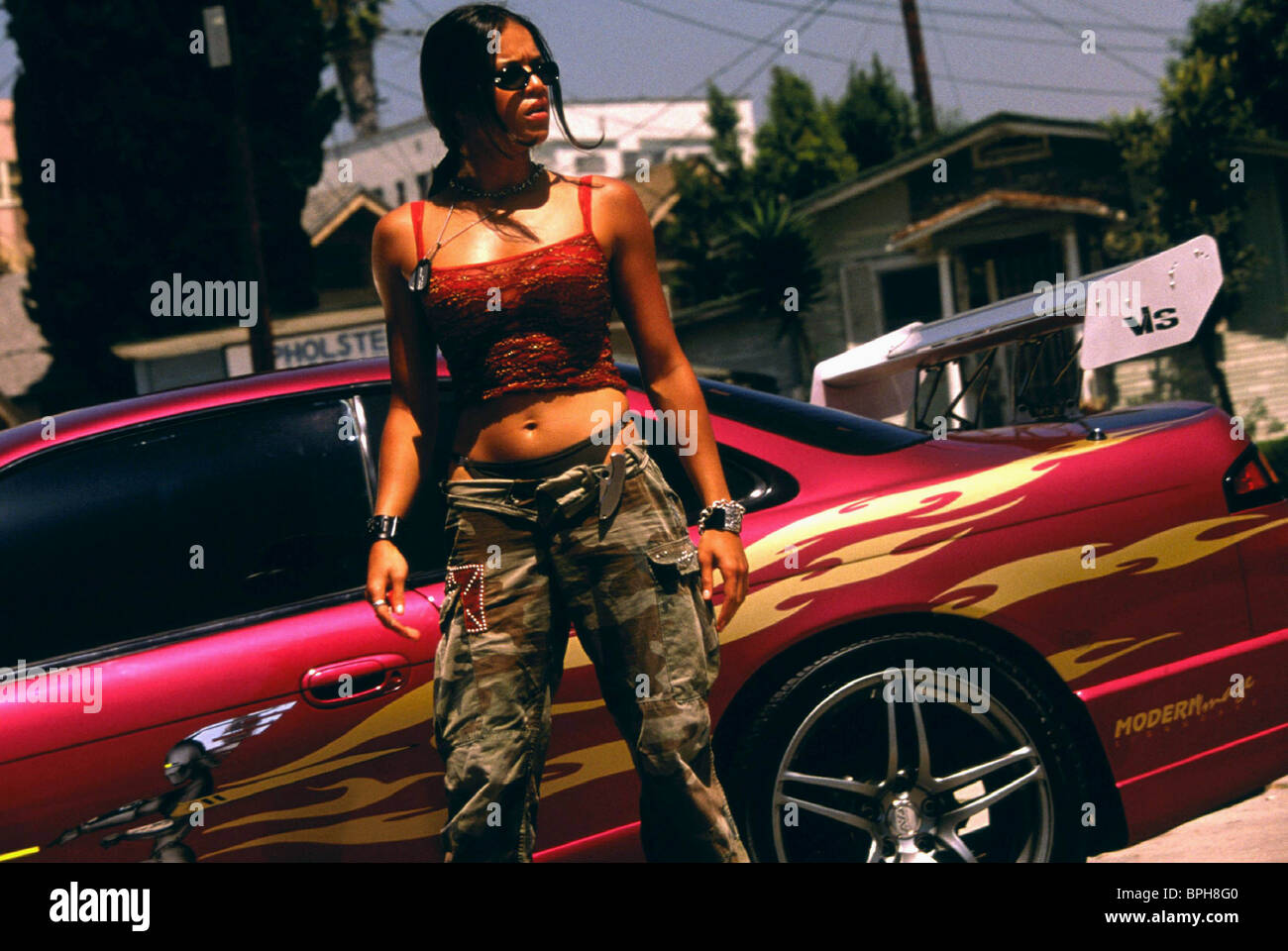michelle rodriguez the fast and the furious 2001 stock photo royalty free image 31112704 alamy. Black Bedroom Furniture Sets. Home Design Ideas