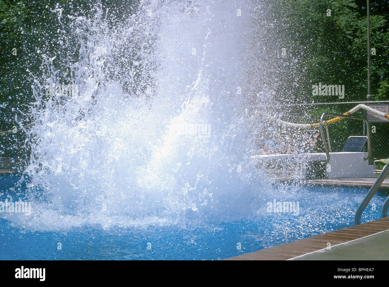 swimming pool splash scene shallow hal 2001 stock photo royalty free image 31117247 alamy