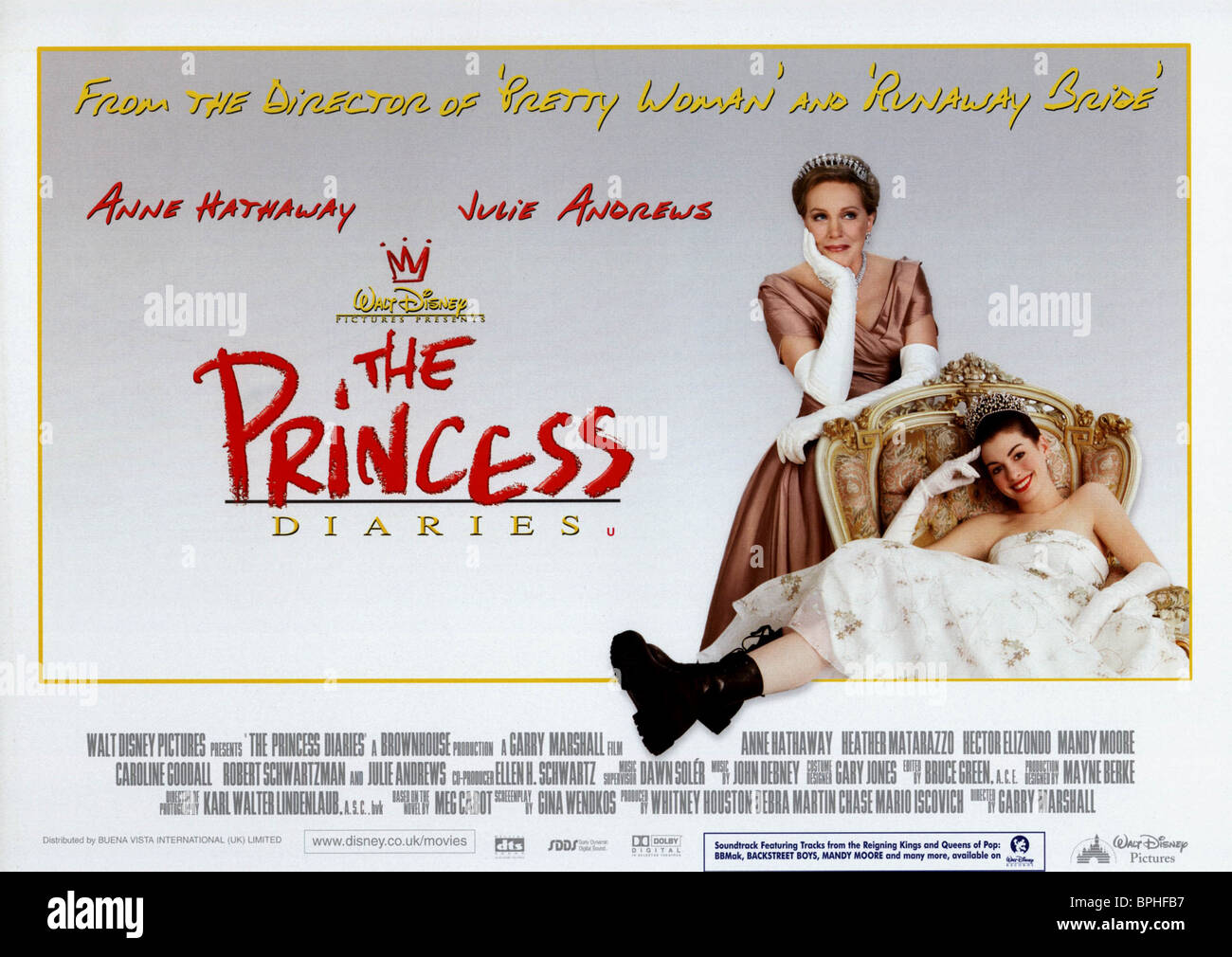 JULIE ANDREWS & ANNE HATHAWAY POSTER THE PRINCESS DIARIES ...