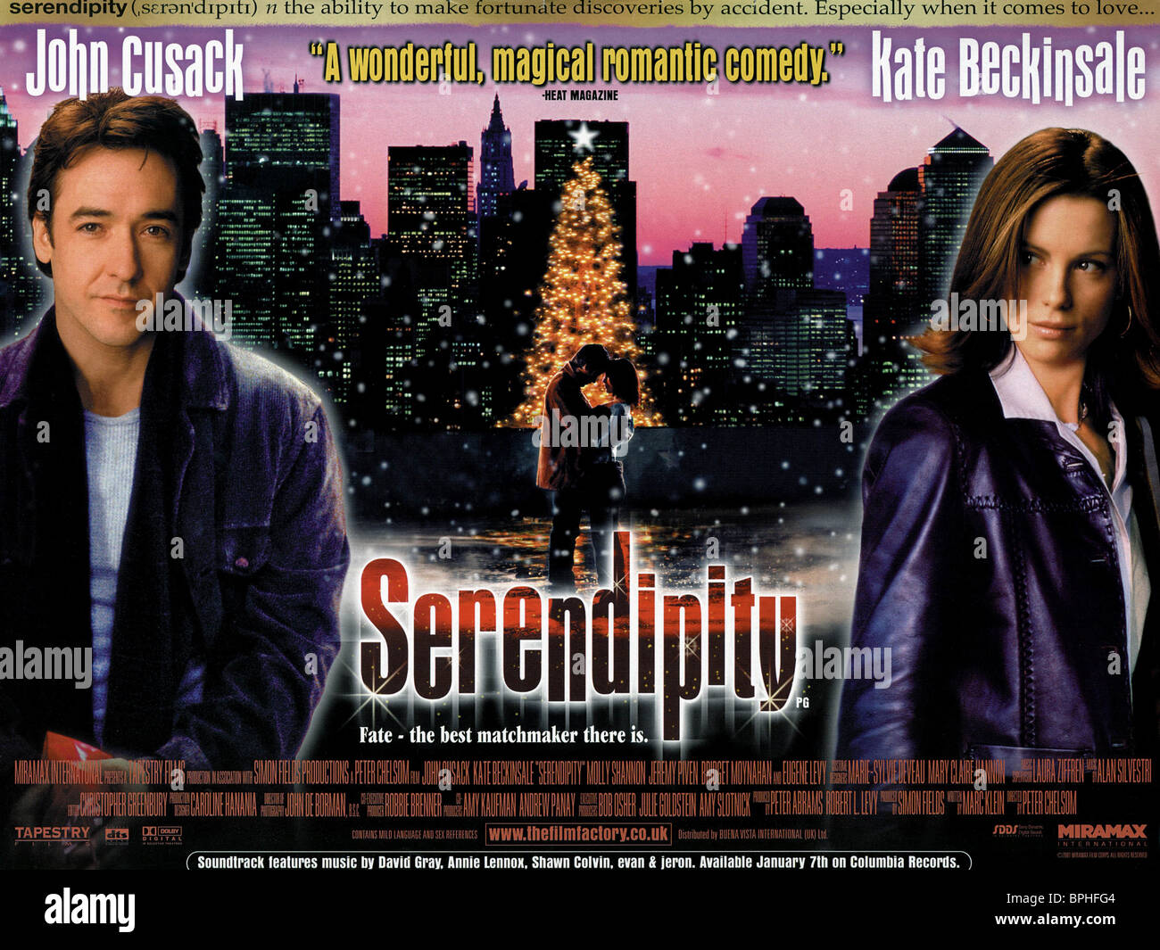 JOHN CUSACK & KATE BECKINSALE SERENDIPITY (2001 Stock ...