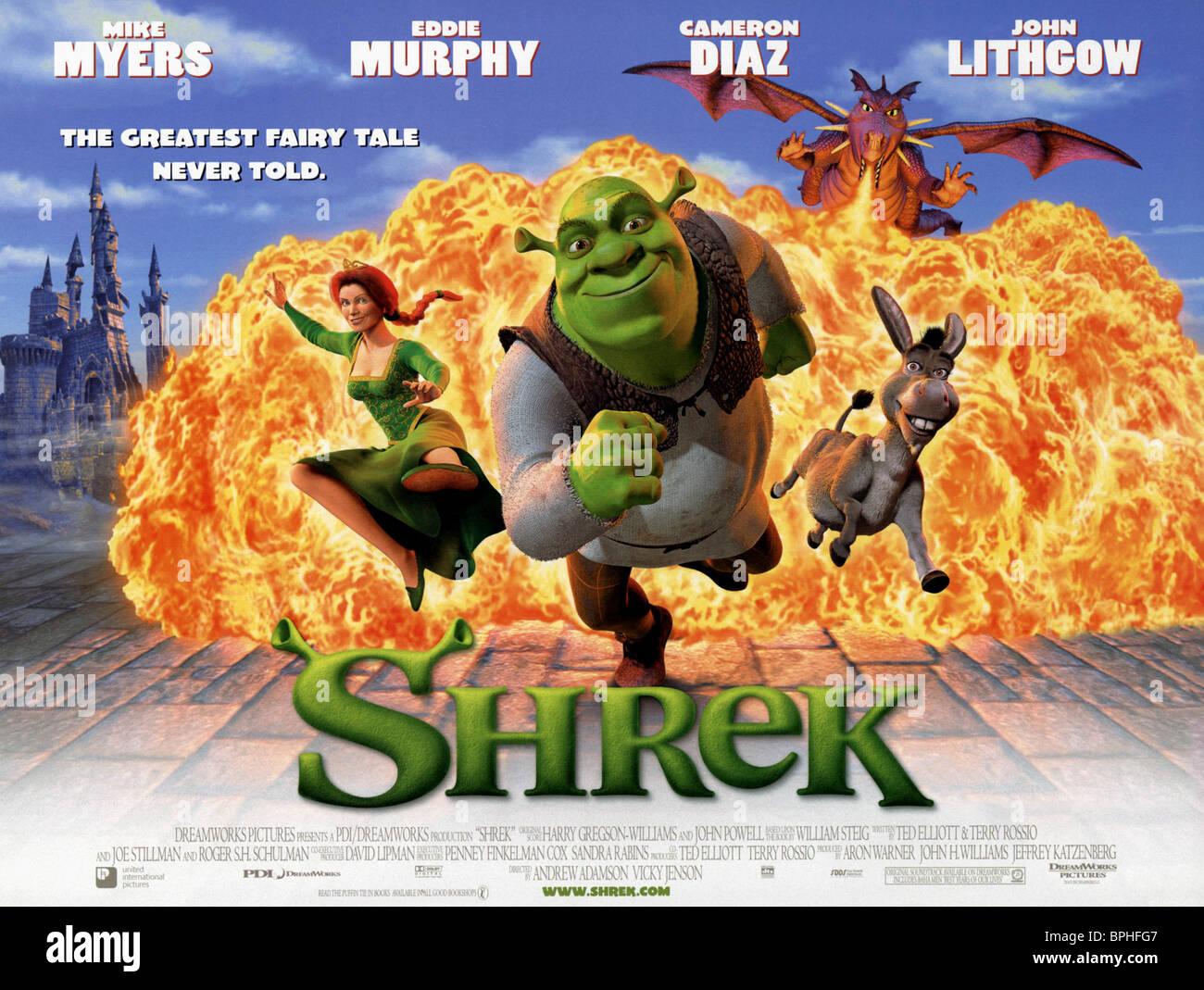 film poster shrek 2001 stock photo royalty free image