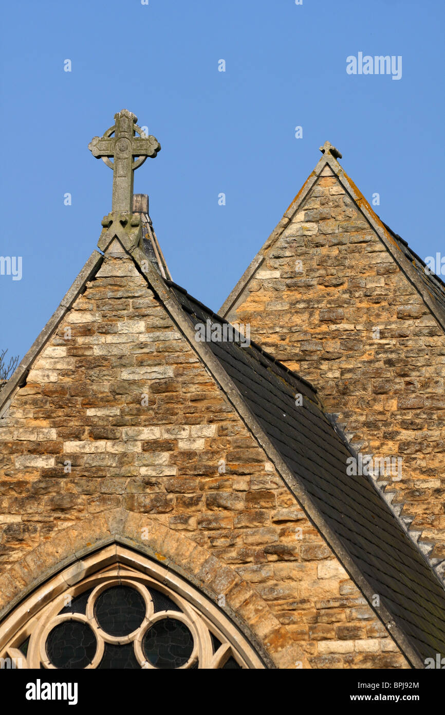 Church Roof Pointed Roofs Cross Concrete Natural Stone