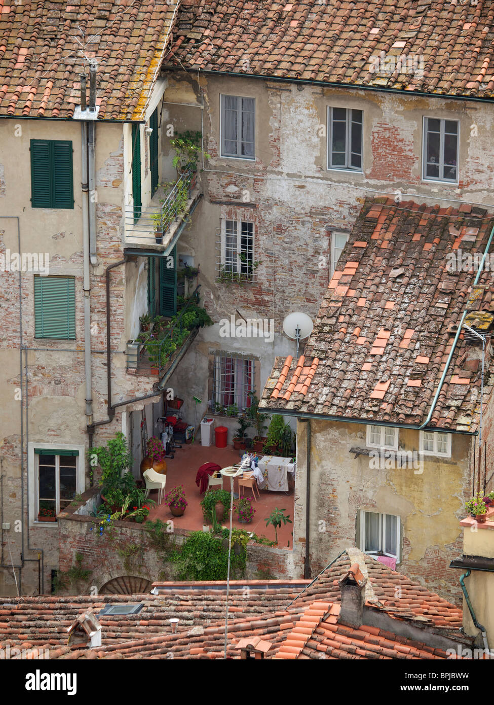 Homes In The Old City Of Lucca Tuscany Italy Picture