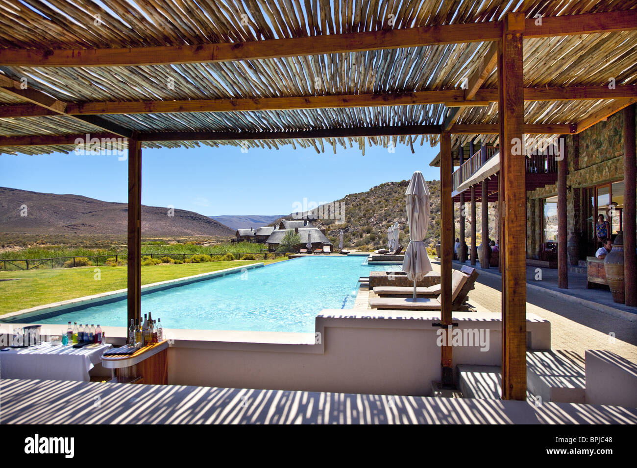 Swimming Pool At Aquila Lodge Cape Town Western Cape South Africa Stock Photo Royalty Free