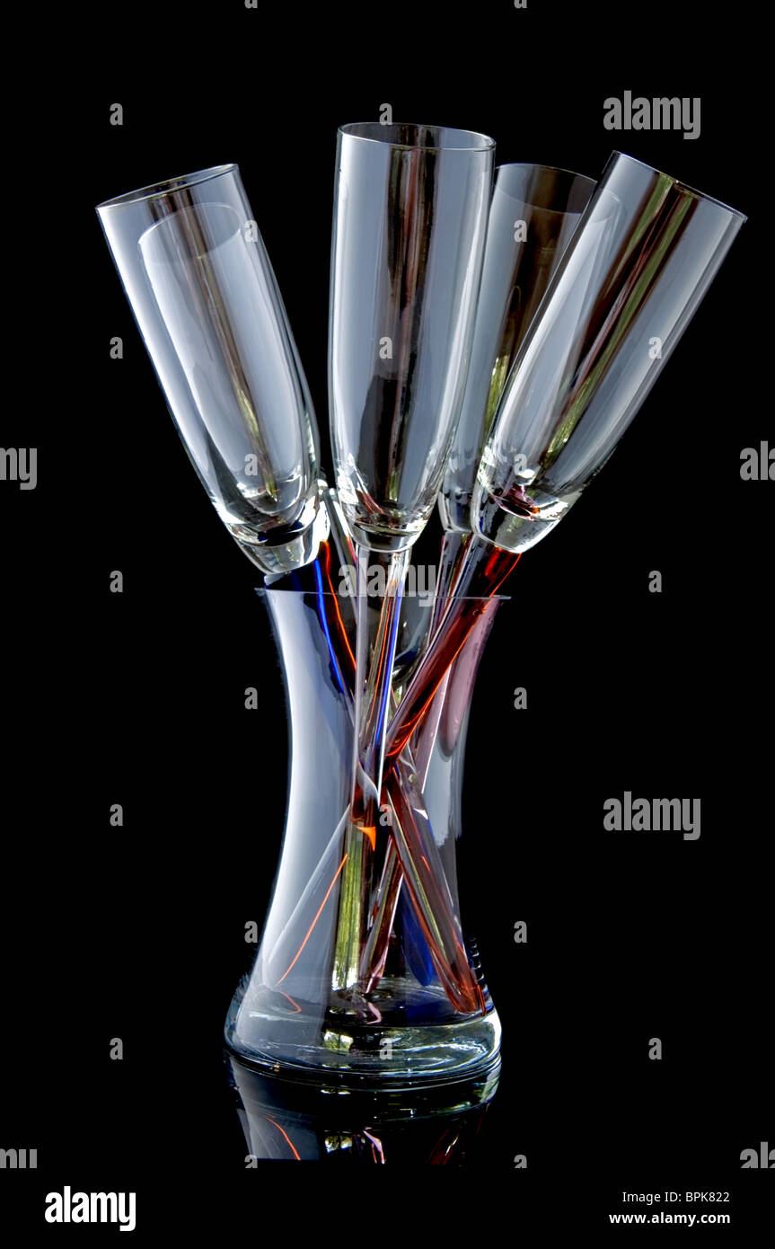This unique glass stemware are 5 wineglasses in a bouquet type this unique glass stemware are 5 wineglasses in a bouquet type setting within a glass vase holder empty and sparkling clean reviewsmspy