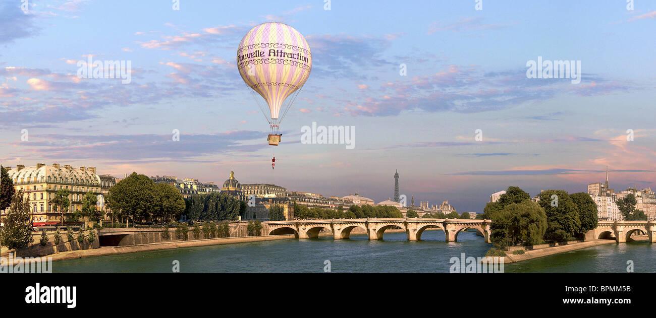 HOT AIR BALLOON FLIES OVER PARIS AROUND THE WORLD IN 80 DAYS (2004 ...