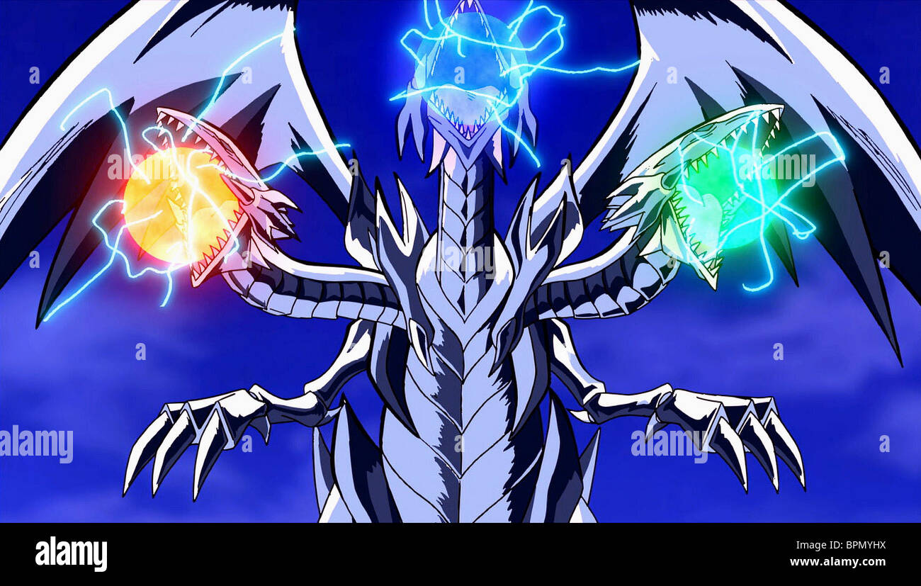 blue eyes ultimate dragon yu gi oh the movie 2004 stock photo