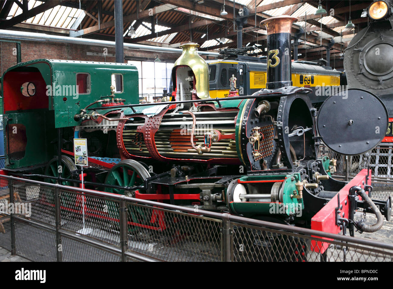 Beyer,Peacock & Company steam locomotive cutaway exposing multi ...