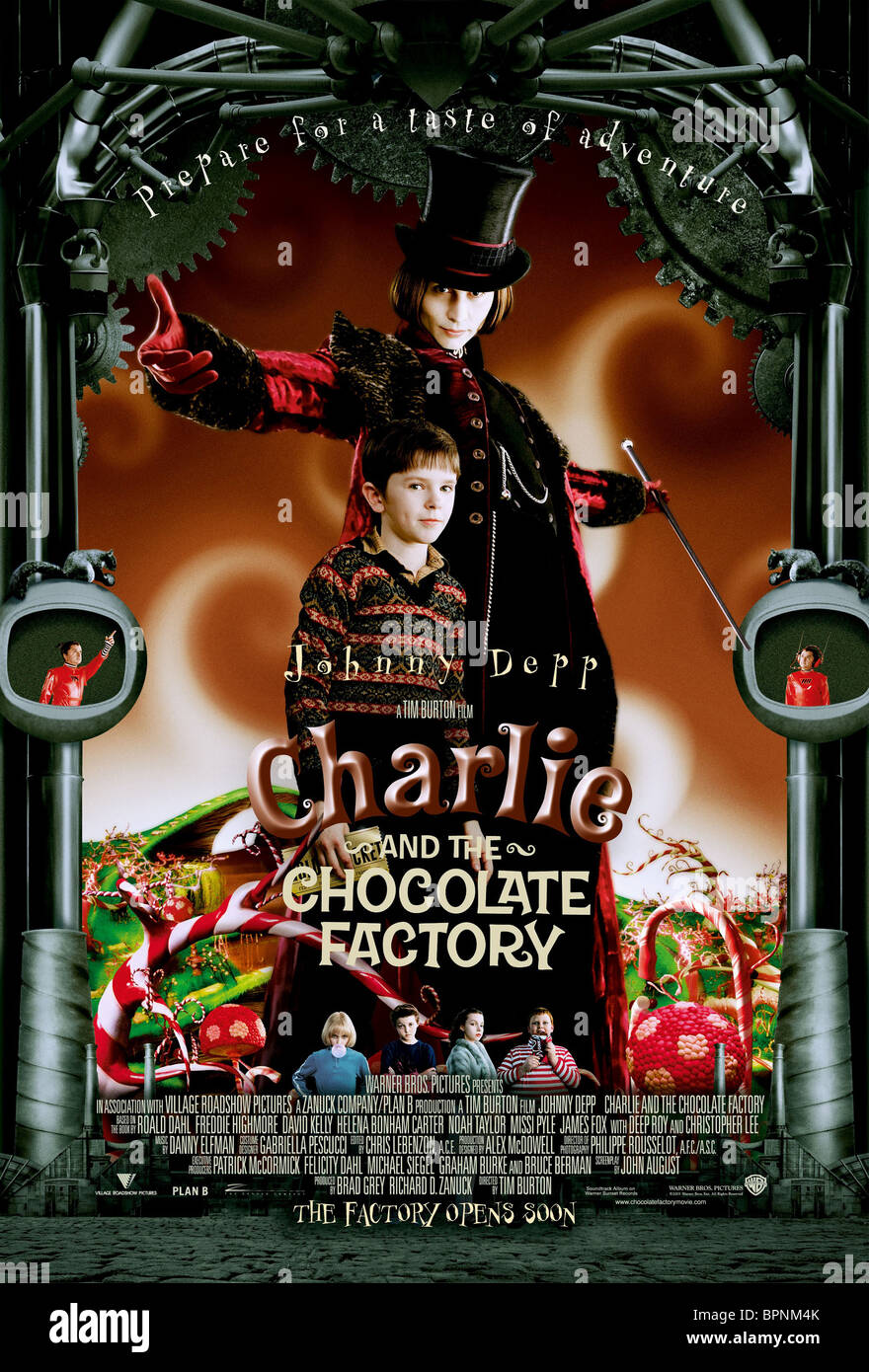 FREDDIE HIGHMORE & JOHNNY DEPP CHARLIE AND THE CHOCOLATE FACTORY ...