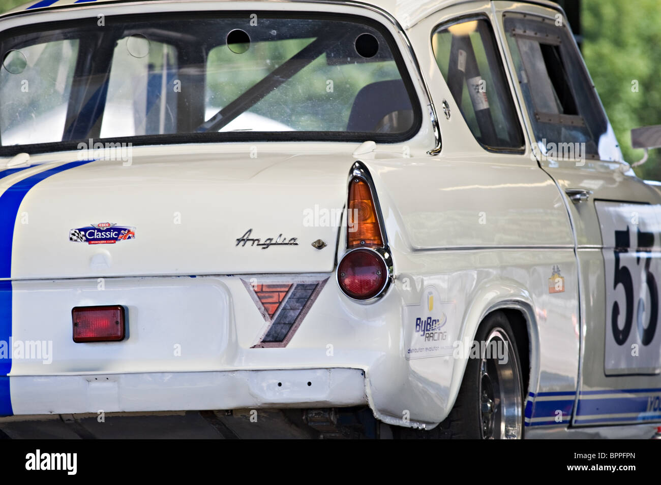 Ford Anglia Historic Race Car in Paddock at Oulton Park Motor Racing Circuit Cheshire England United Kingdom UK & Ford Anglia Historic Race Car in Paddock at Oulton Park Motor ... markmcfarlin.com