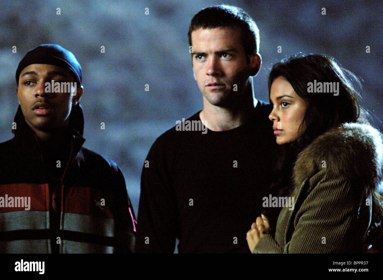 bow wow lucas black nathalie kelley the fast and the furious 3 the stock photo royalty free. Black Bedroom Furniture Sets. Home Design Ideas