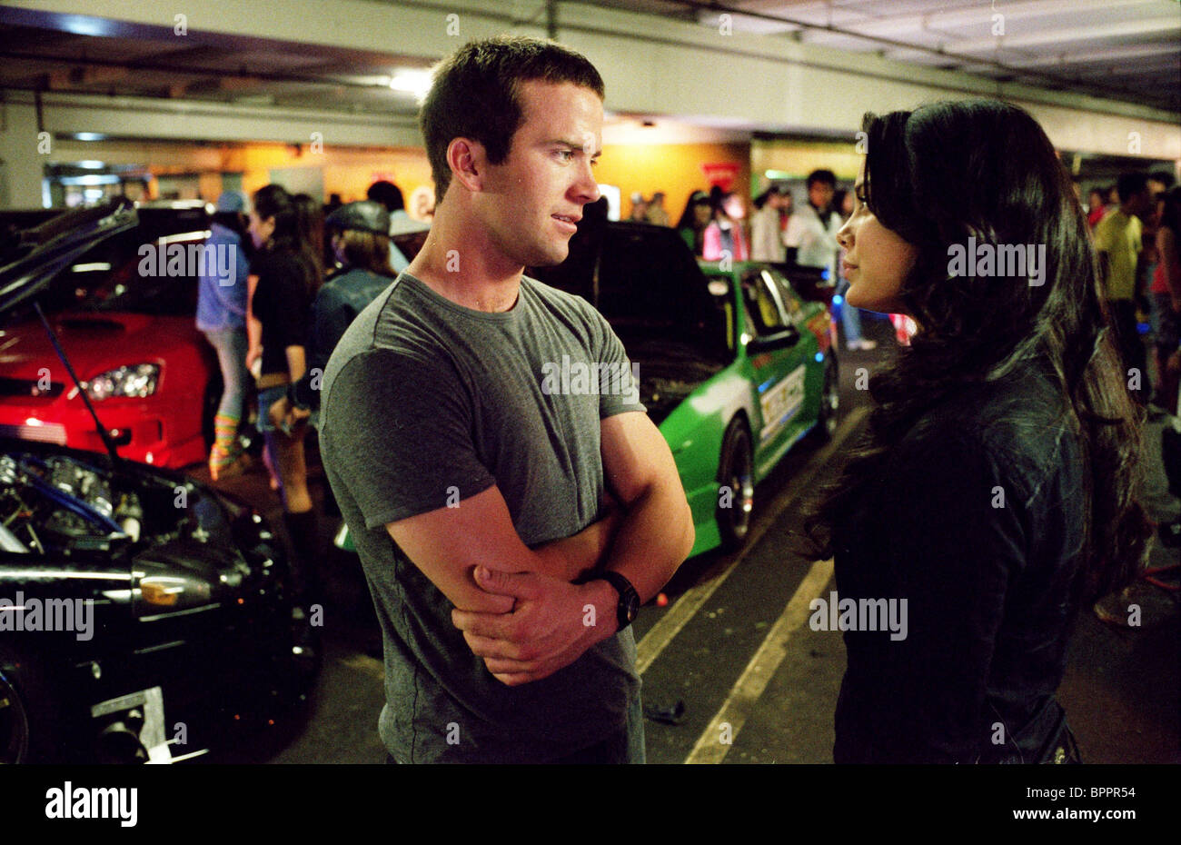 lucas black nathalie kelley the fast and the furious 3 the fast stock photo royalty free. Black Bedroom Furniture Sets. Home Design Ideas