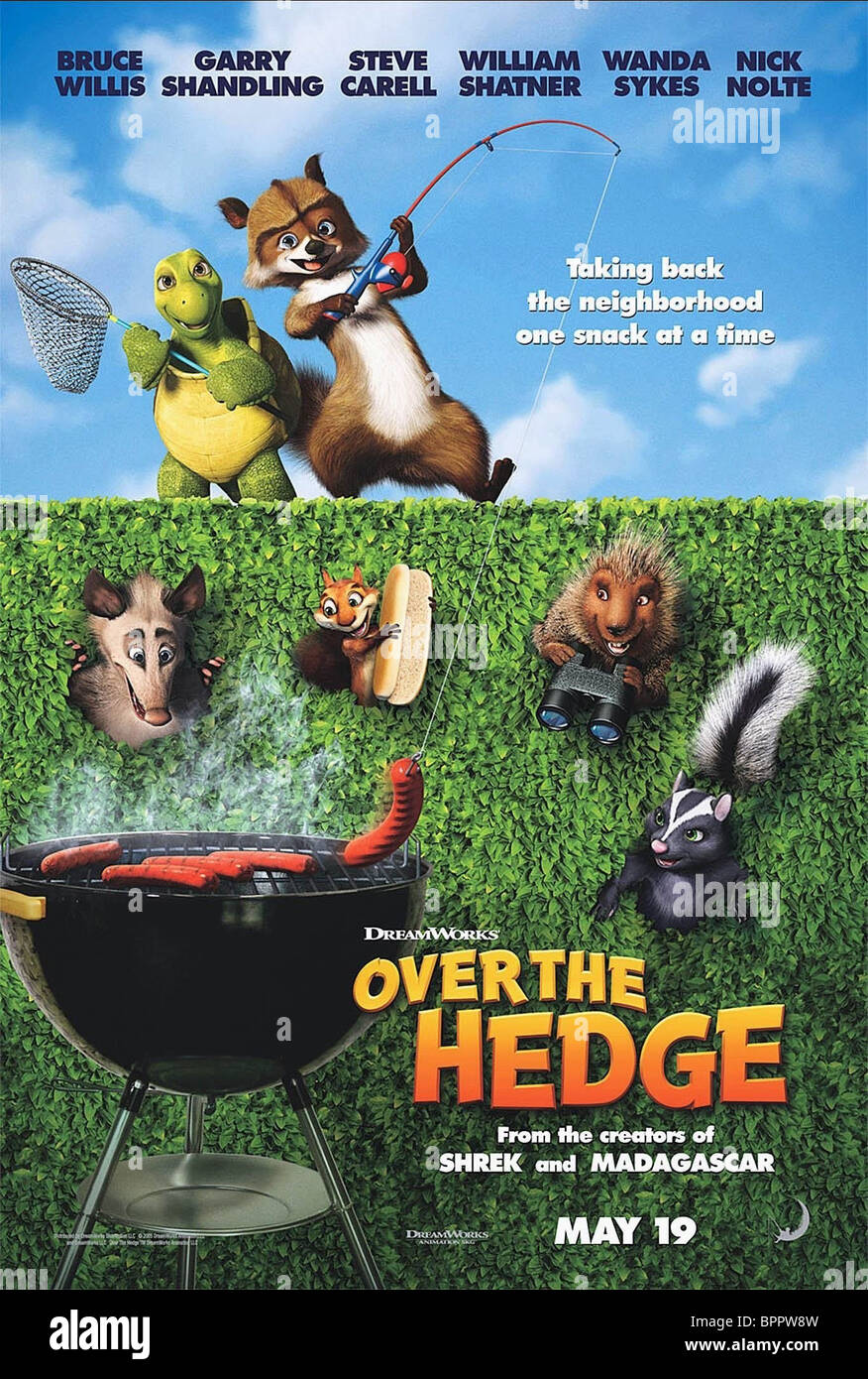 Uncategorized Verne The Turtle verne the turtle rj raccoon ozzie hammy squirrel spike porcupine stella skunk poster over hedge 2006