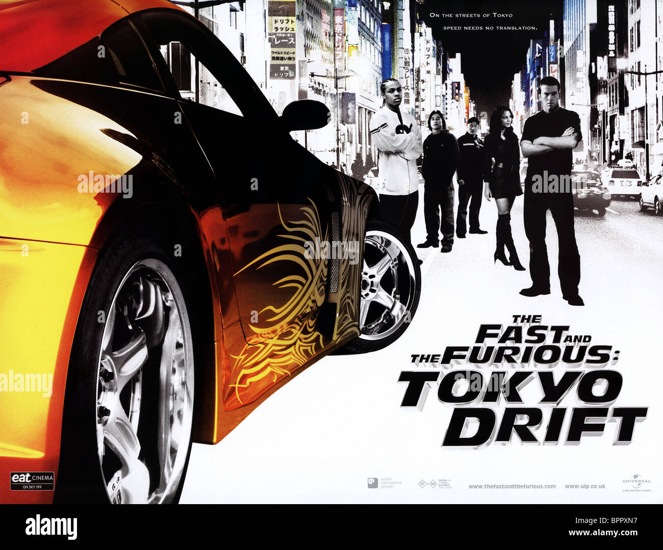film poster the fast and the furious 3 the fast and the furious stock photo royalty free image. Black Bedroom Furniture Sets. Home Design Ideas