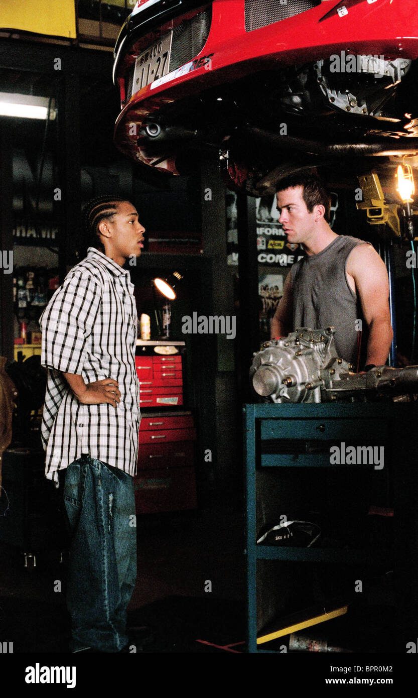 bow wow lucas black the fast and the furious 3 the fast and the stock photo royalty free. Black Bedroom Furniture Sets. Home Design Ideas