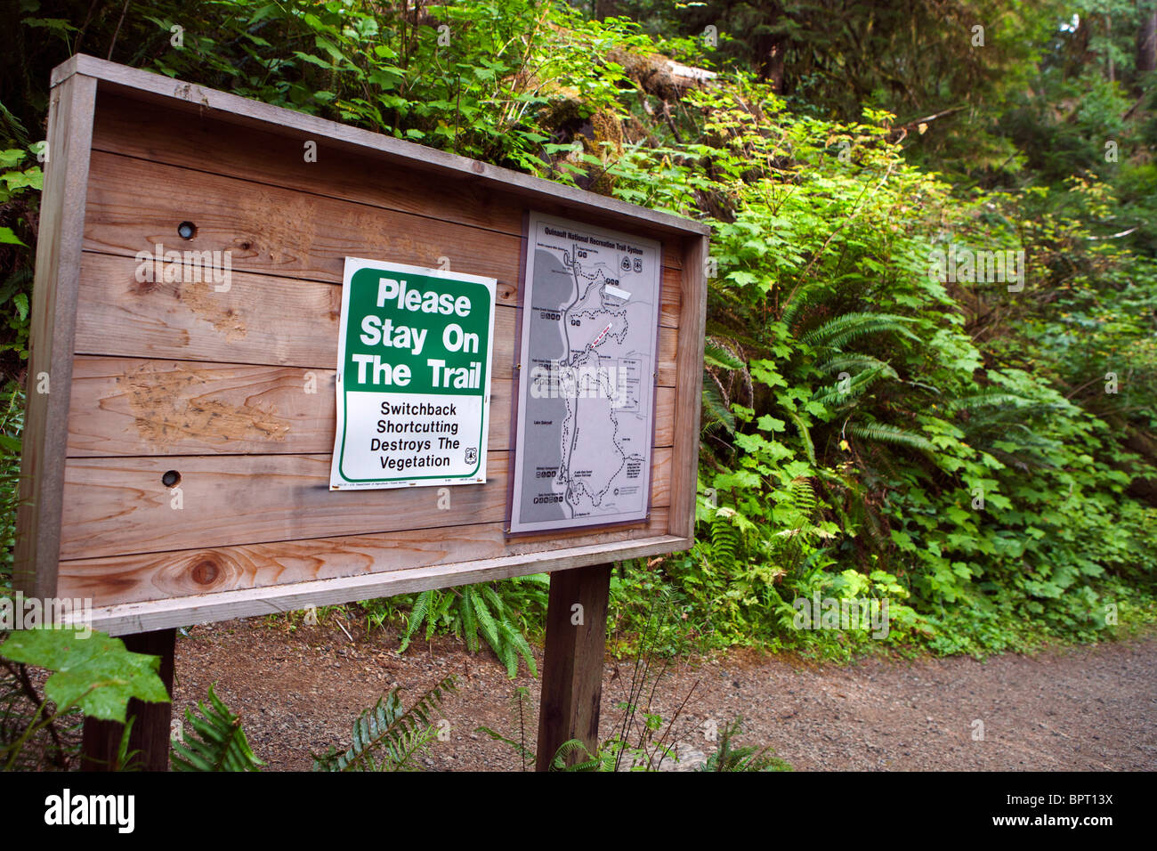 US Forest Service Bulletin Board With Trail Maps And Warning To - Us forest service maps