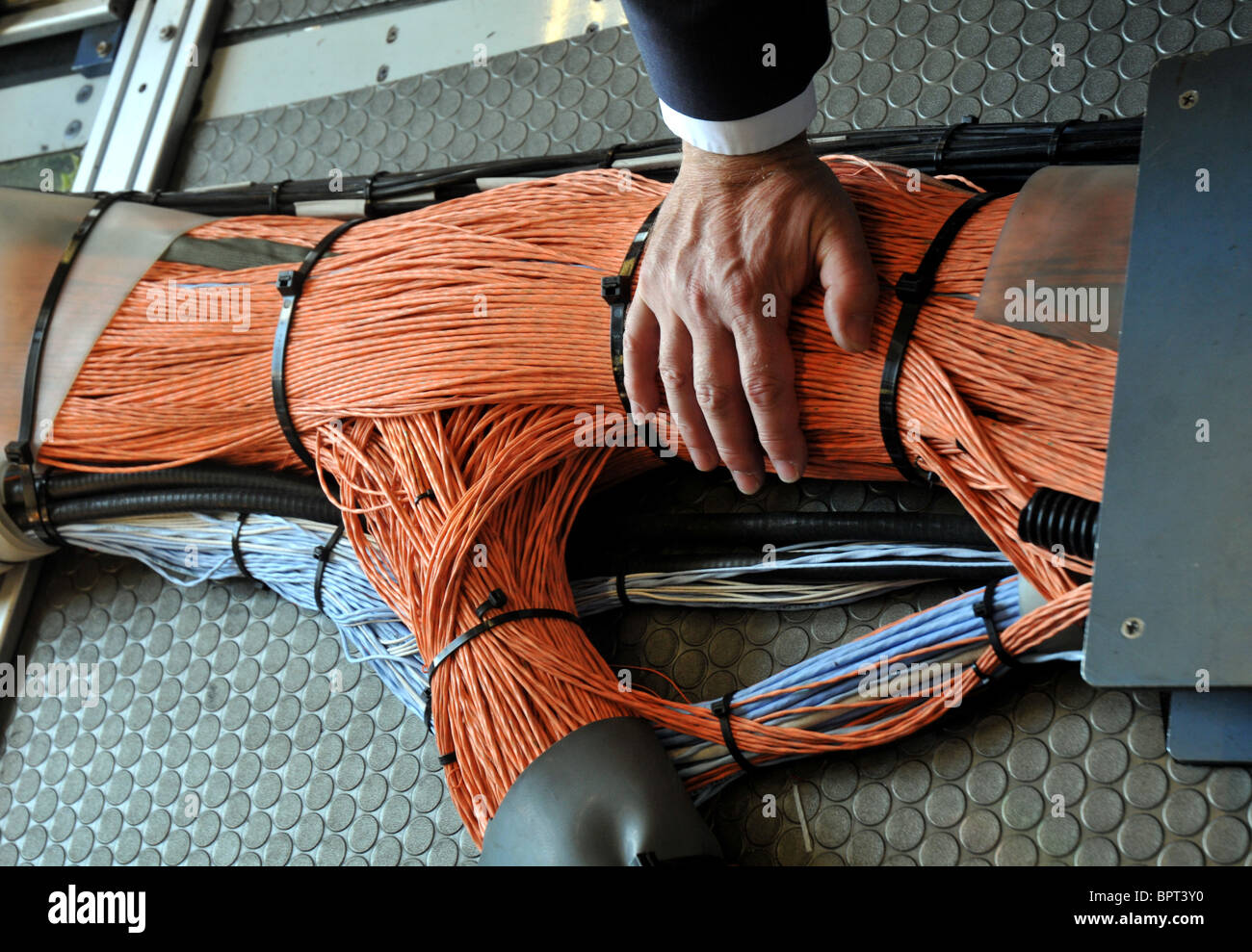 Wiring In The Airbus A380 Stock Photo  Royalty Free Image  31262756