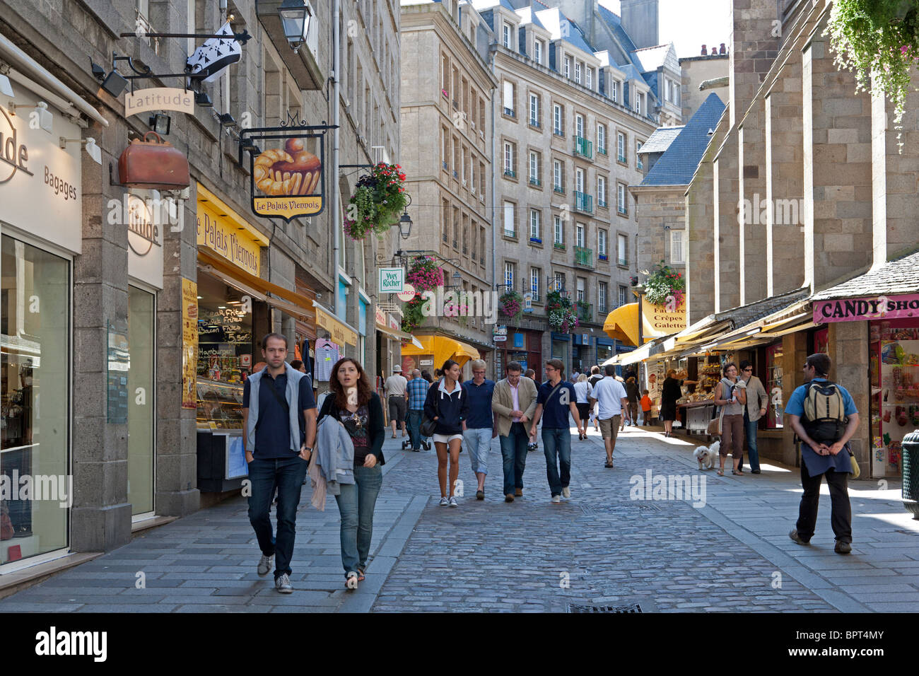 Souvent St Malo Intra Muros, Brittany, France Stock Photo, Royalty Free  IP37
