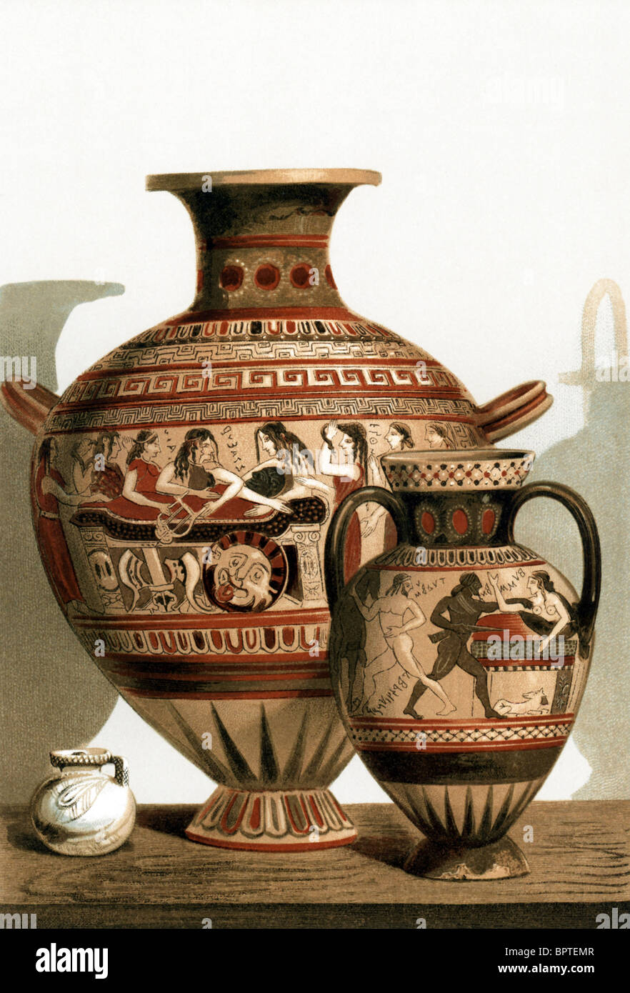 The painted vases represented here are corinthian vases stock the painted vases represented here are corinthian vases earthenware from corinth in central greece reviewsmspy