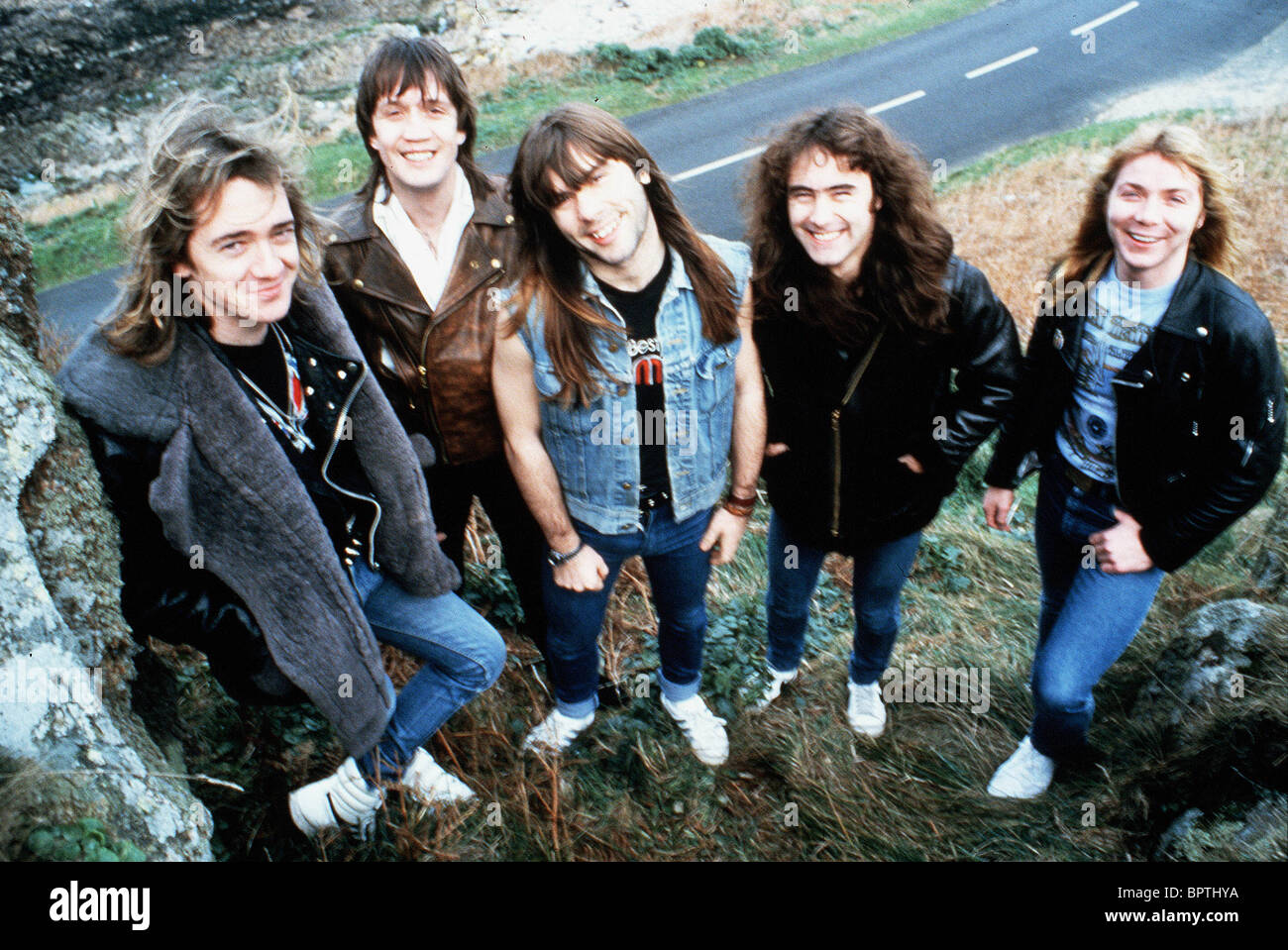 iron maiden pop group 1983 stock photo royalty free image 31273742 alamy. Black Bedroom Furniture Sets. Home Design Ideas