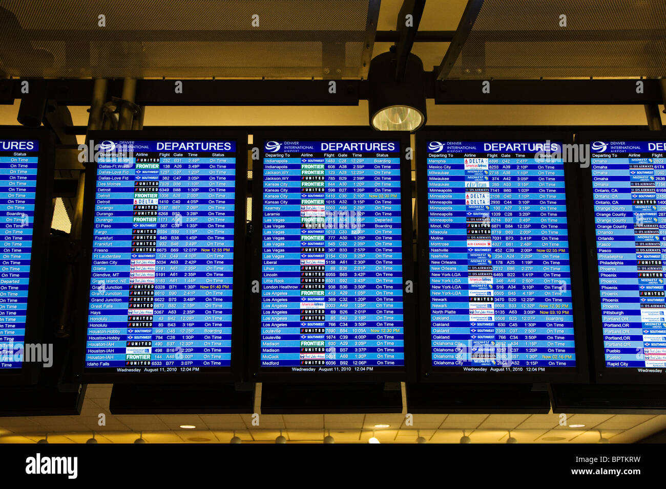 Flight Arrival Departure Information Computer Monitor