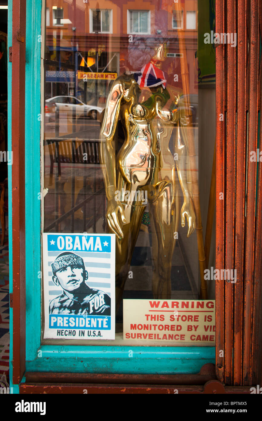 Obama Poster At Vintage Clothing Store Venice Beach Los Angeles - Los angeles posters vintage