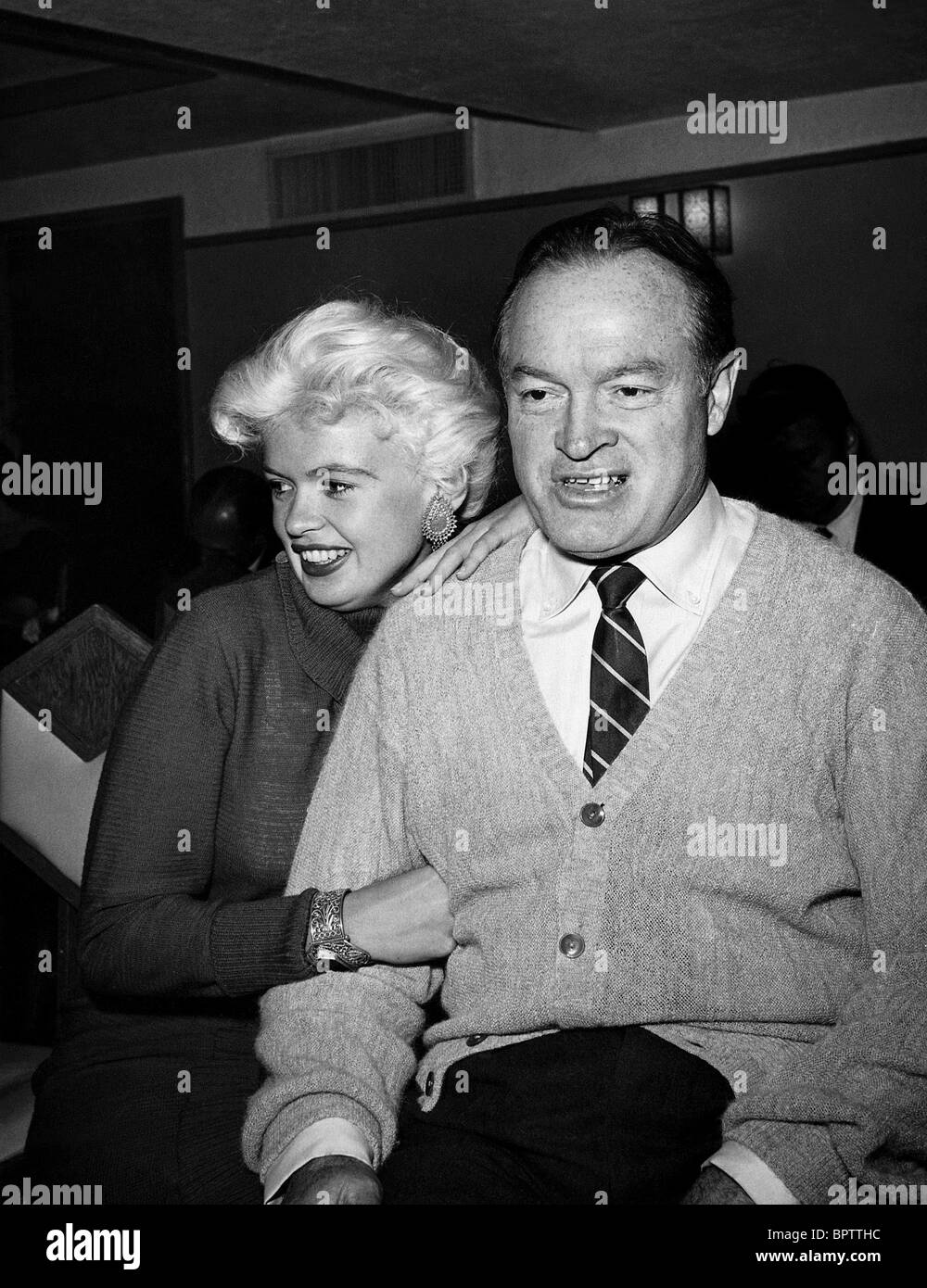 Jayne mansfield bob hope actor with actress 1957 stock image