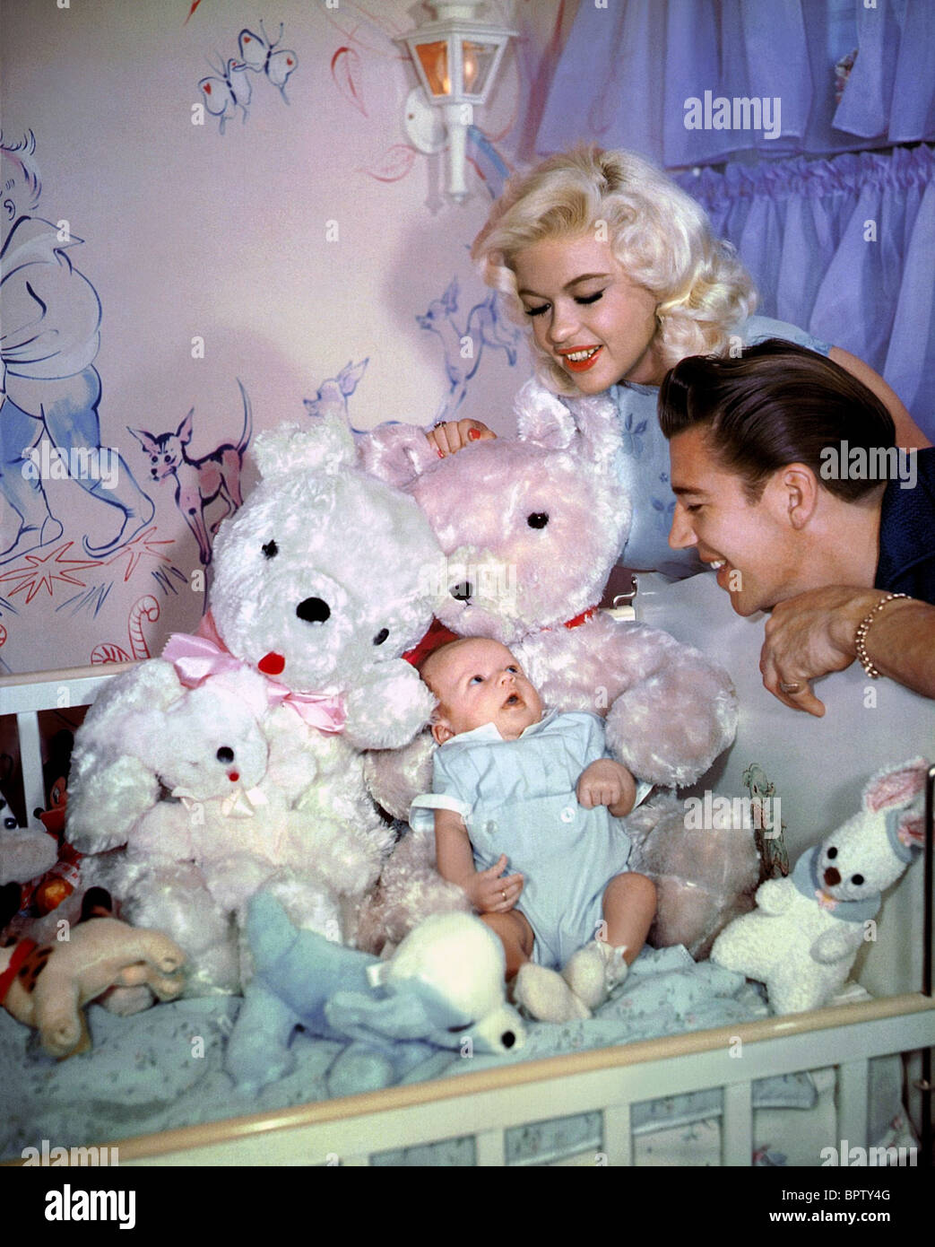 Jayne mansfield mickey hargitay married actress actor 1959 stock image