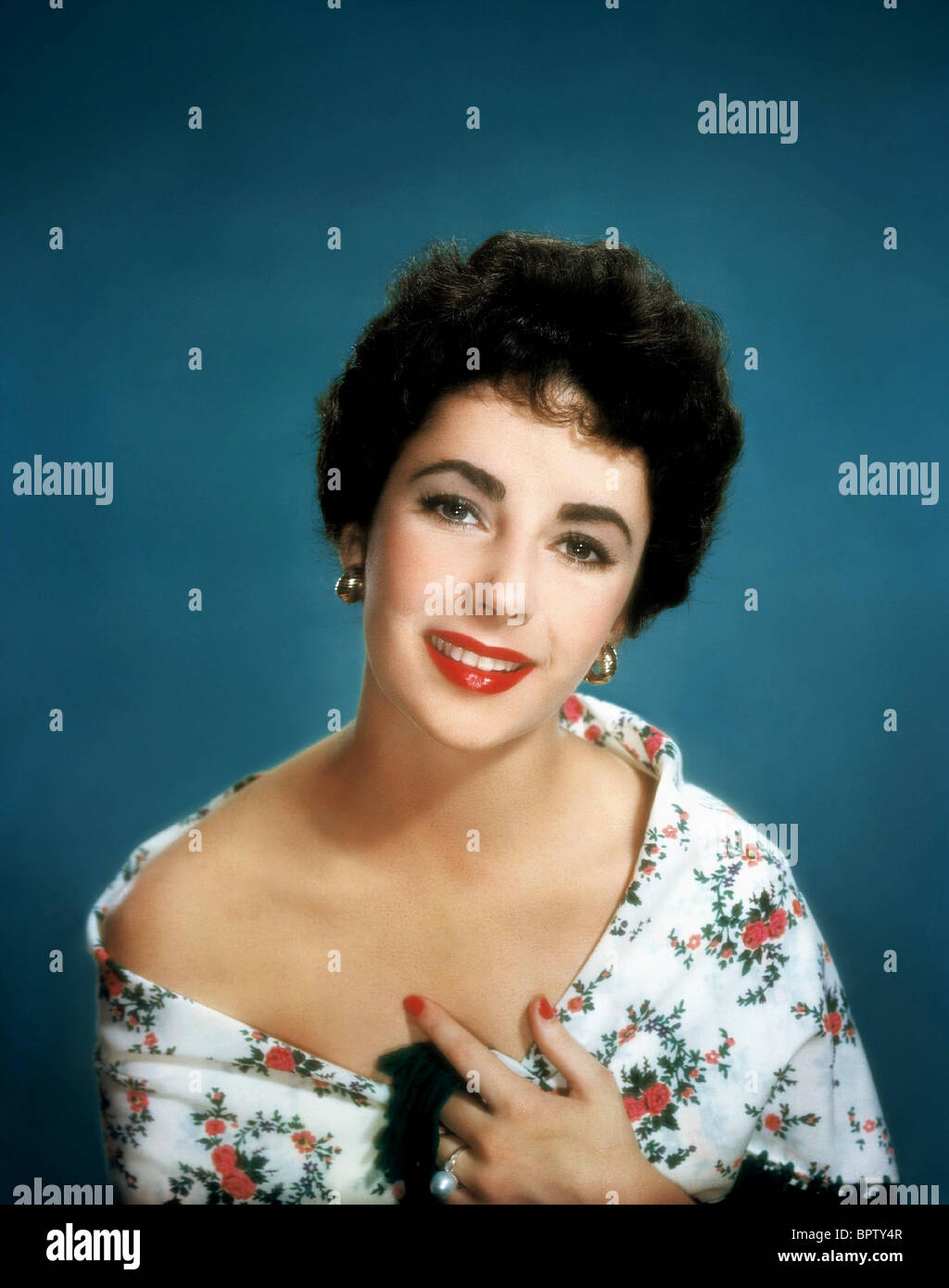 ELIZABETH TAYLOR ACTRESS (1950 Stock Photo, Royalty Free Image ...