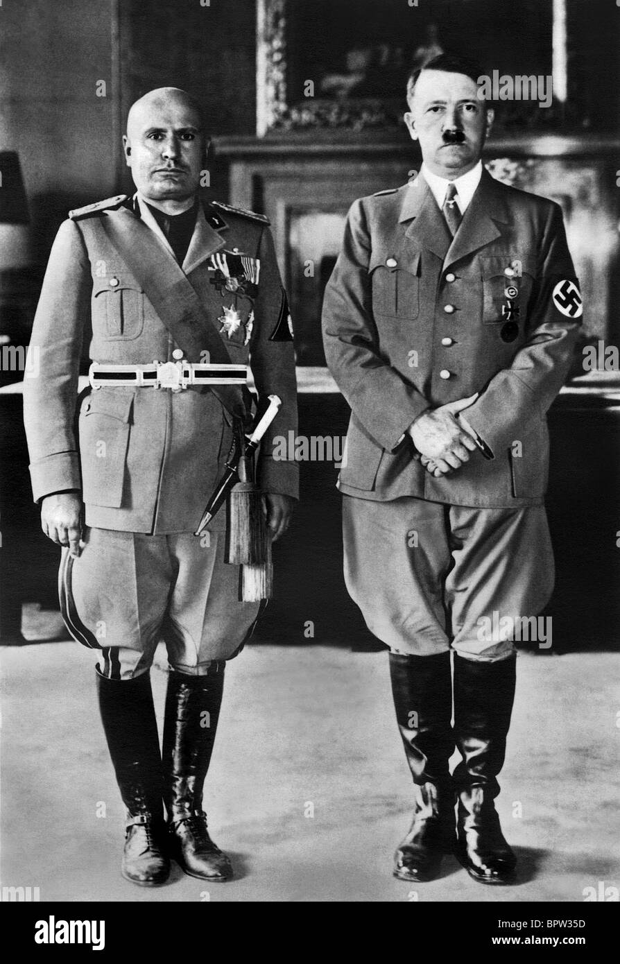 hitler and mussolini Mussolini and hitler, by the grace of having begun in electoral politics and then both being appointed followed a very different route than uncle joe, who muscled himself to power over another powerful rival, leon trotsky.