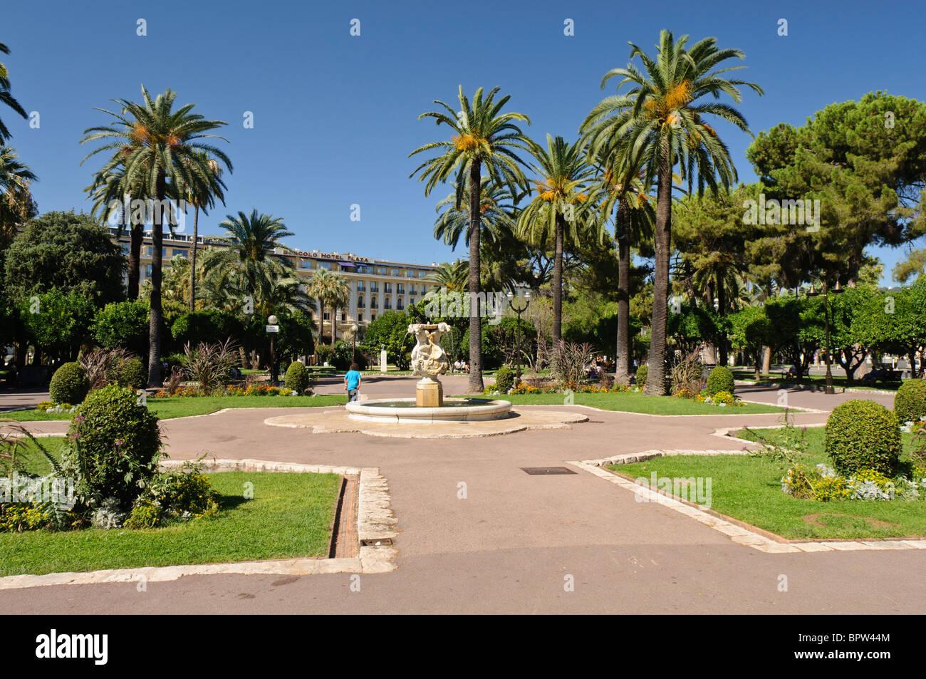 Jardin albert 1er nice france stock photo royalty free for Jardin nice