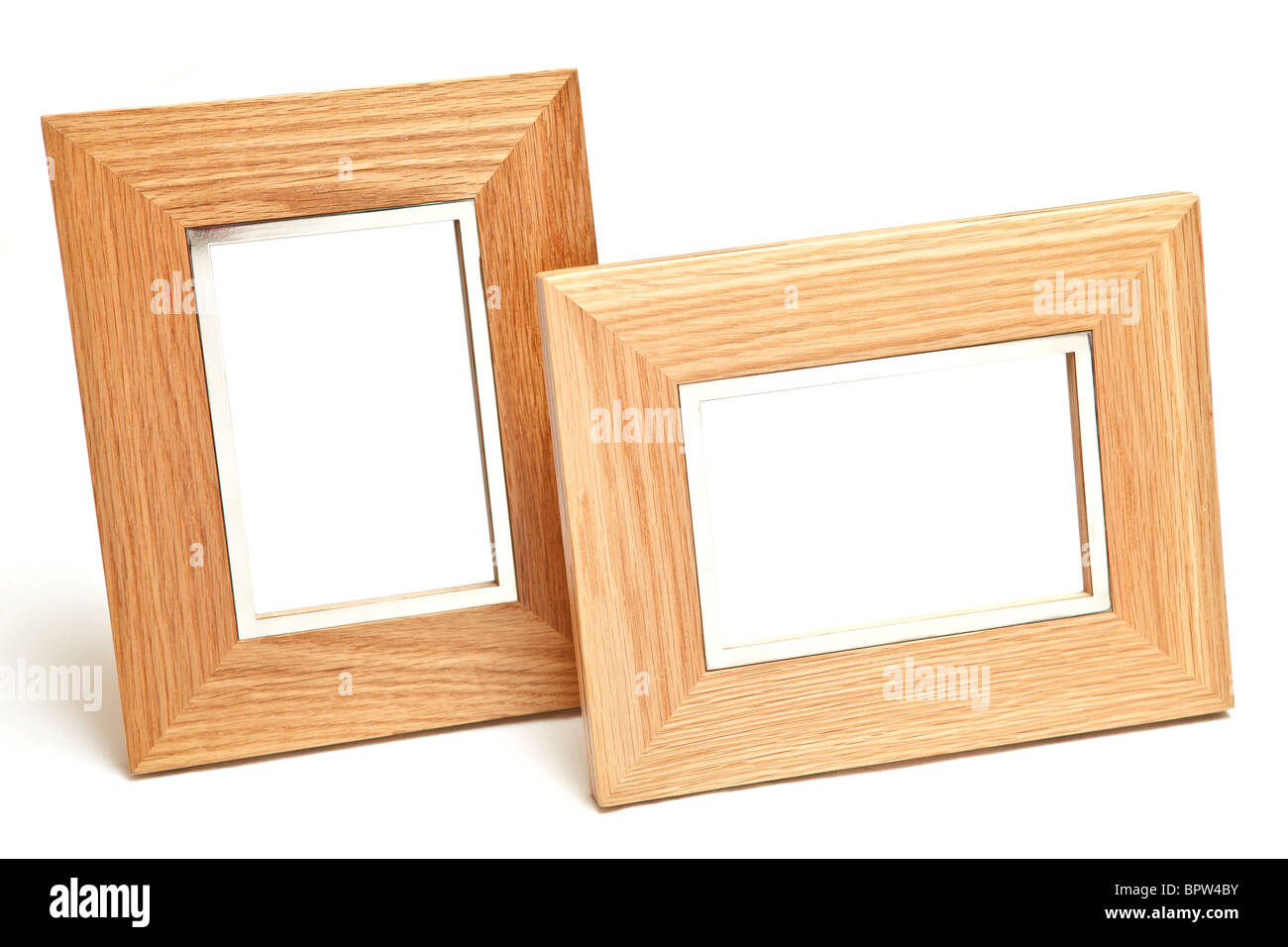 modern wooden frames isolated on white - White Wood Picture Frames