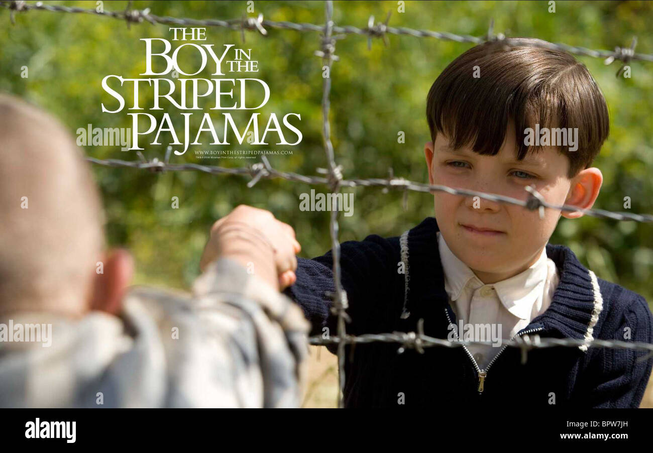 asa butterfield boy in striped stock photos asa butterfield boy asa butterfield poster the boy in the striped pyjamas 2008 stock image
