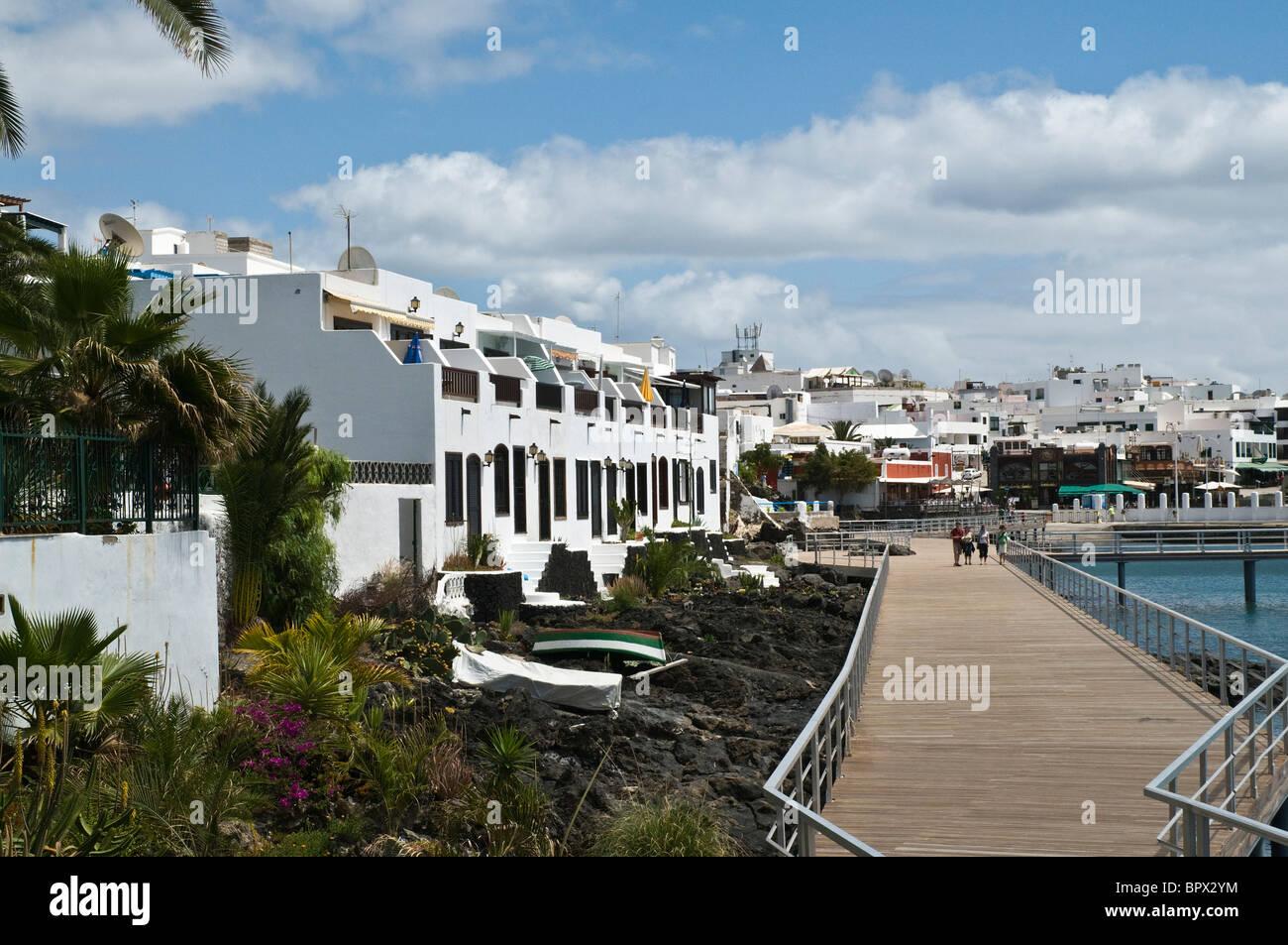 dh Puerto del Carmen habour PUERTO DEL CARMEN LANZAROTE People Stock Photo, R...