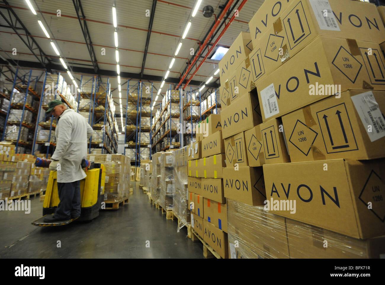 Stock Photo - Avon cosmetics manufacturing