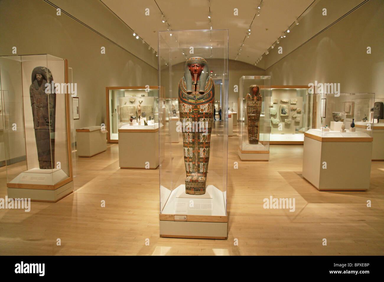 Interior Brooklyn Museum New York City Egyptian