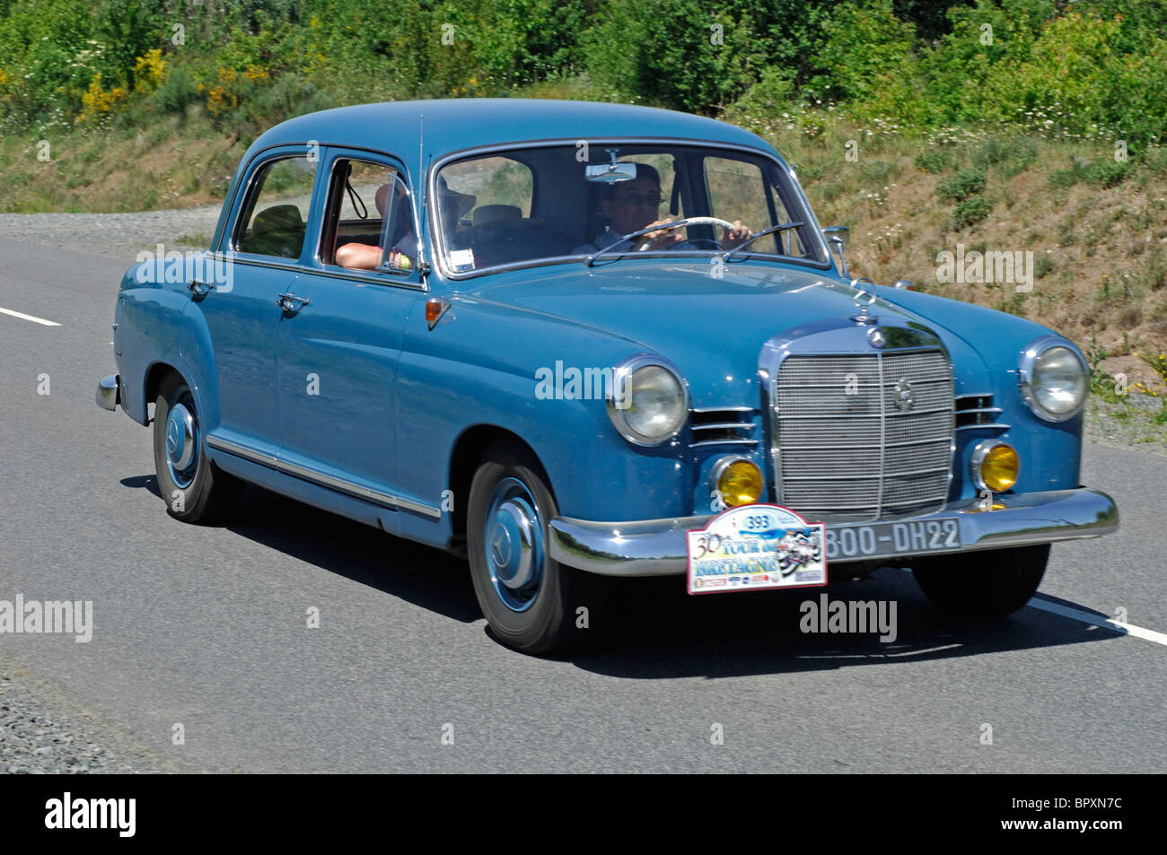 Mercedes Benz 190D, 1959, in the Tour de Bretagne Classic car ...