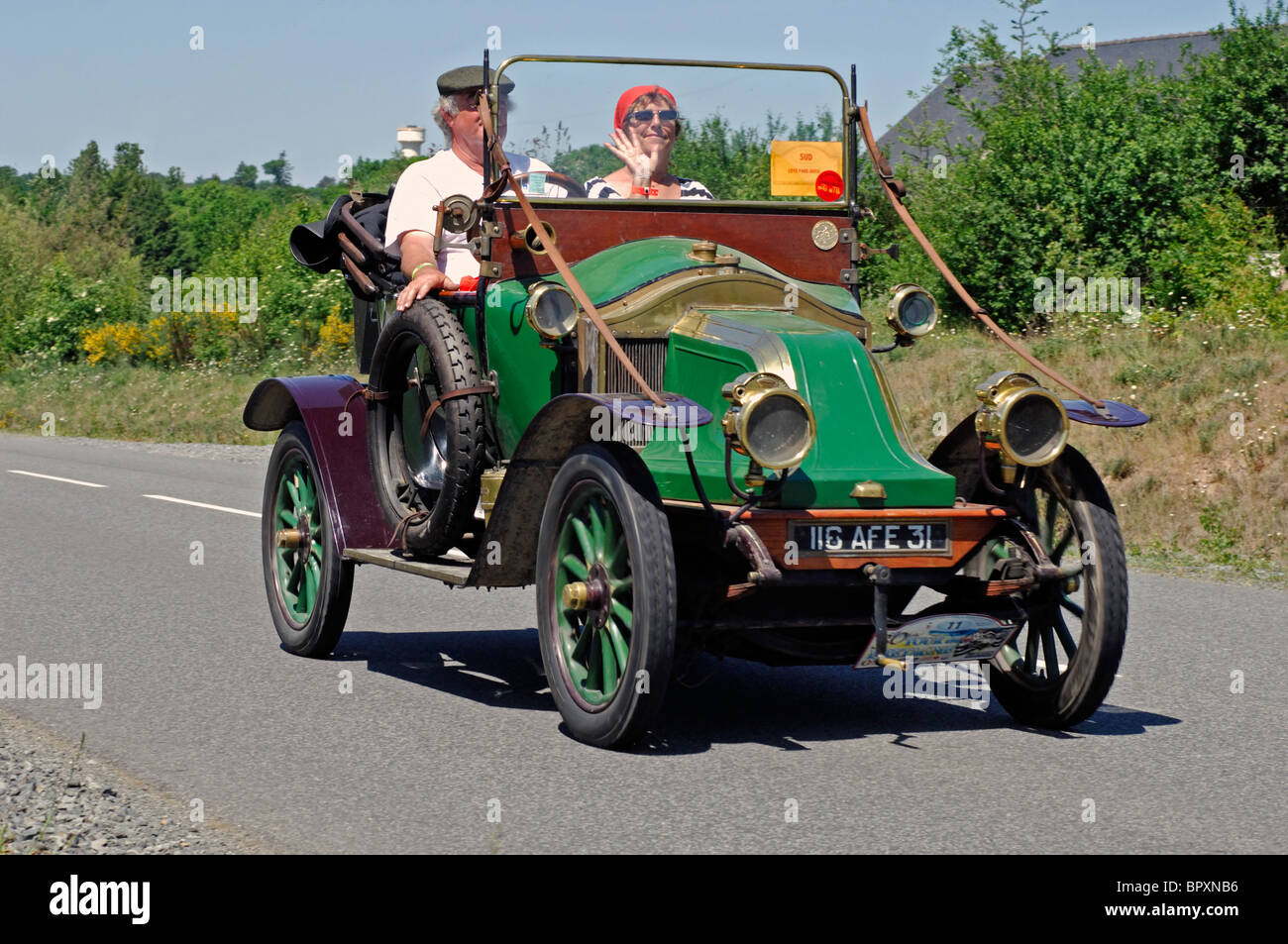 renault ek torpedo 1912 in the tour de bretagne classic car rally stock photo royalty free. Black Bedroom Furniture Sets. Home Design Ideas