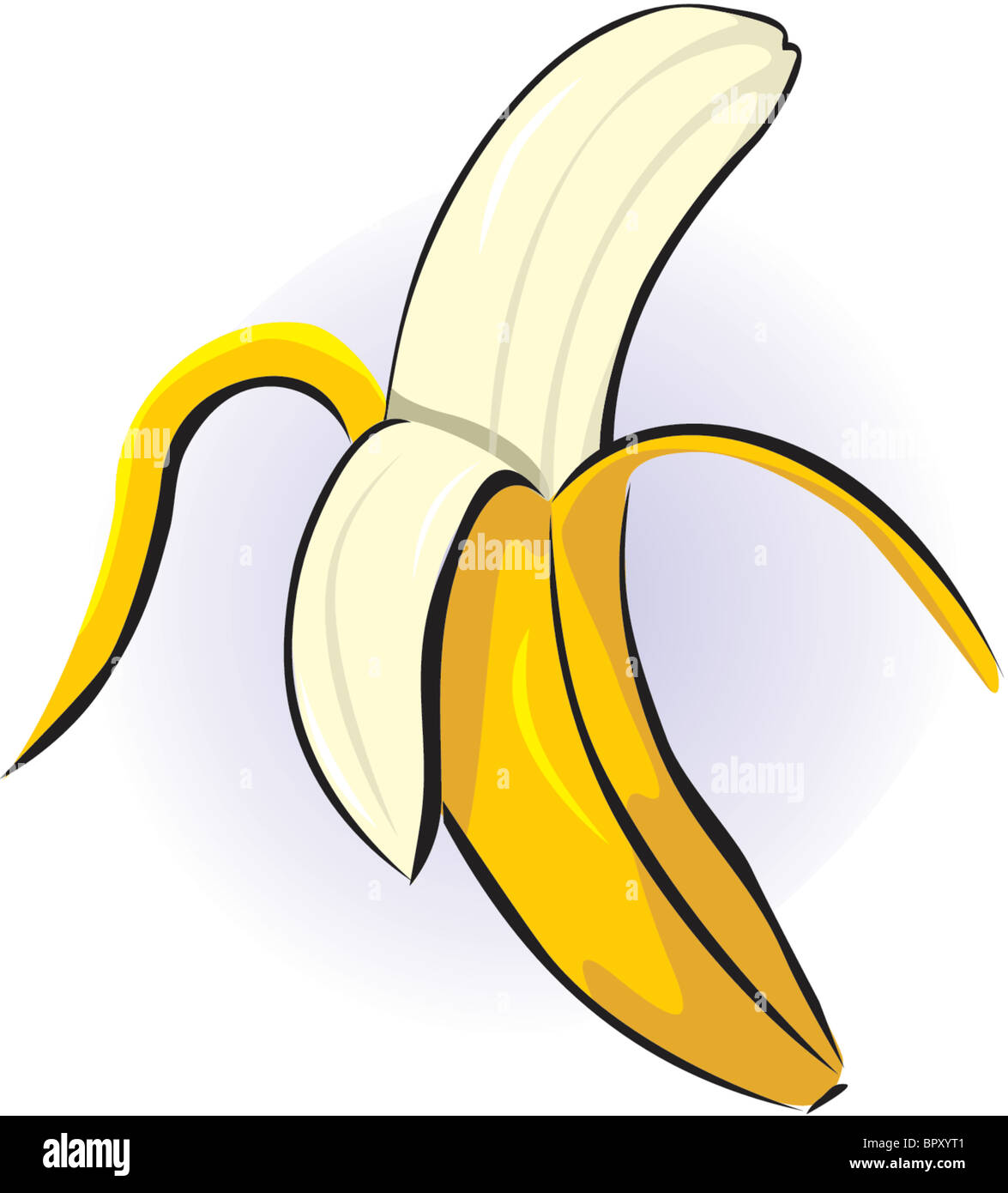Drawing Of A Peeled Banana