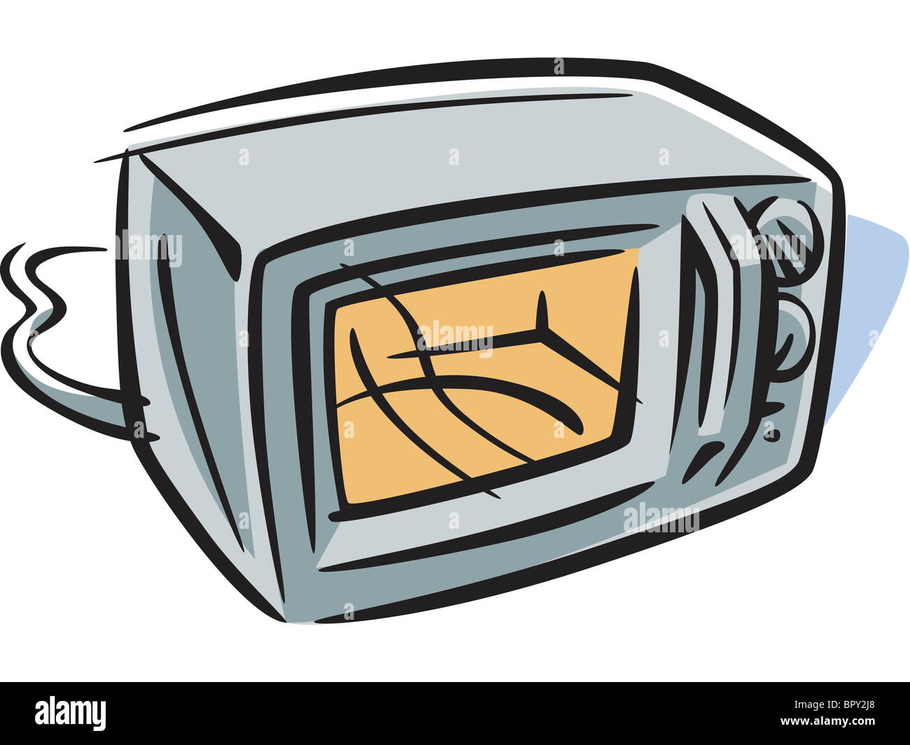 Cartoon Microwave Oven ~ Drawing of a microwave oven stock photo royalty free