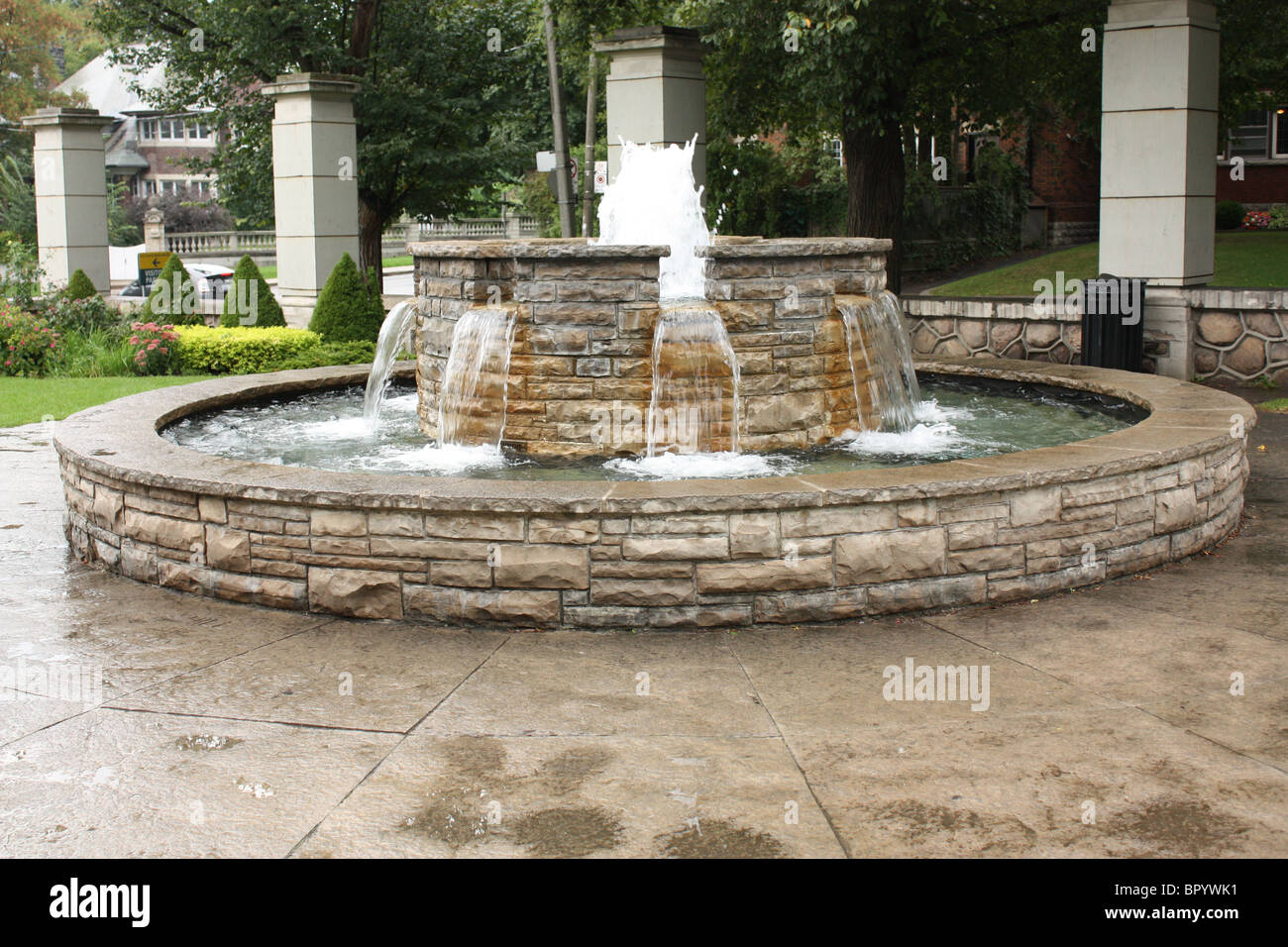 Beau Stone Water Fountain Outdoor Summer